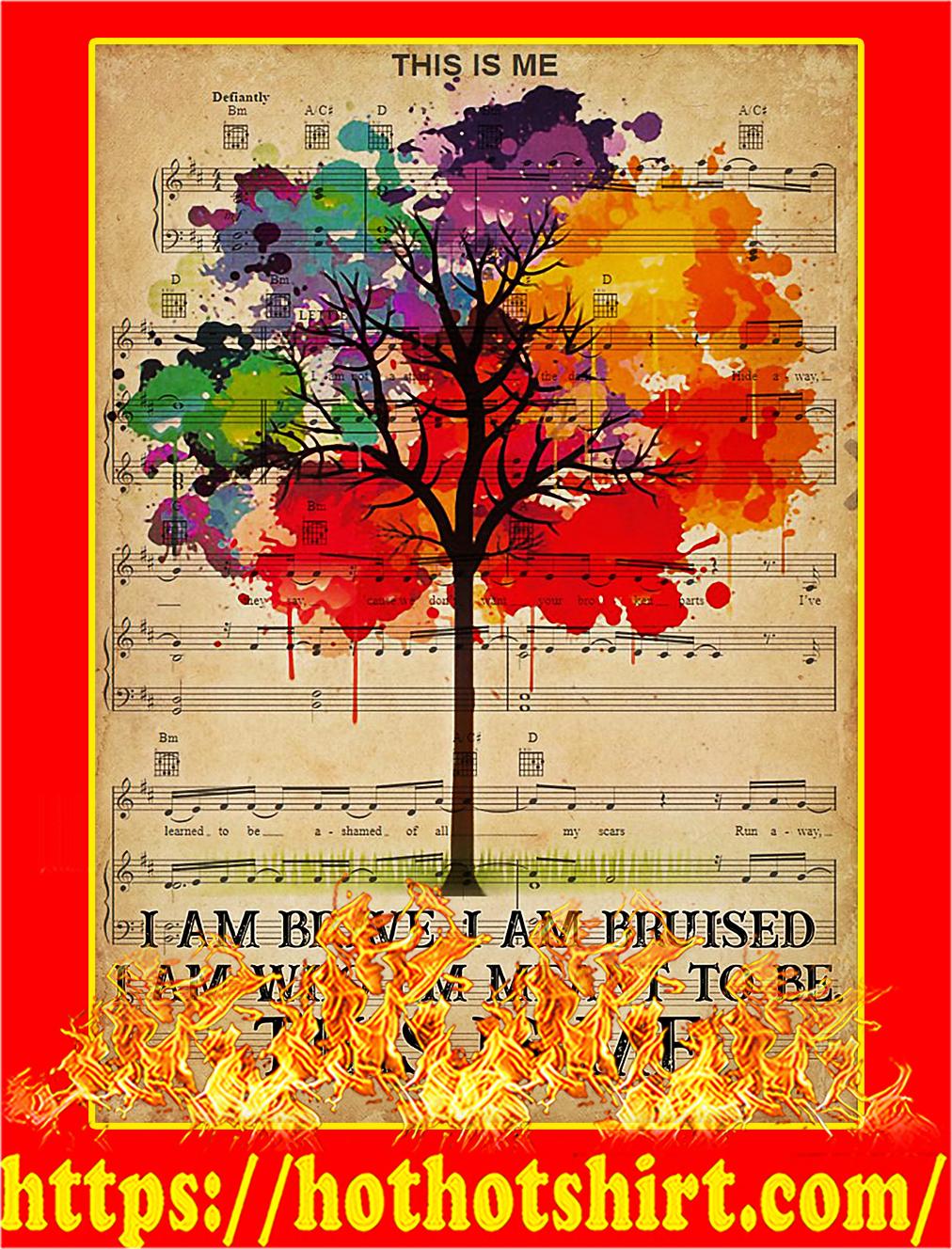 LGBT I am brave poster - A3