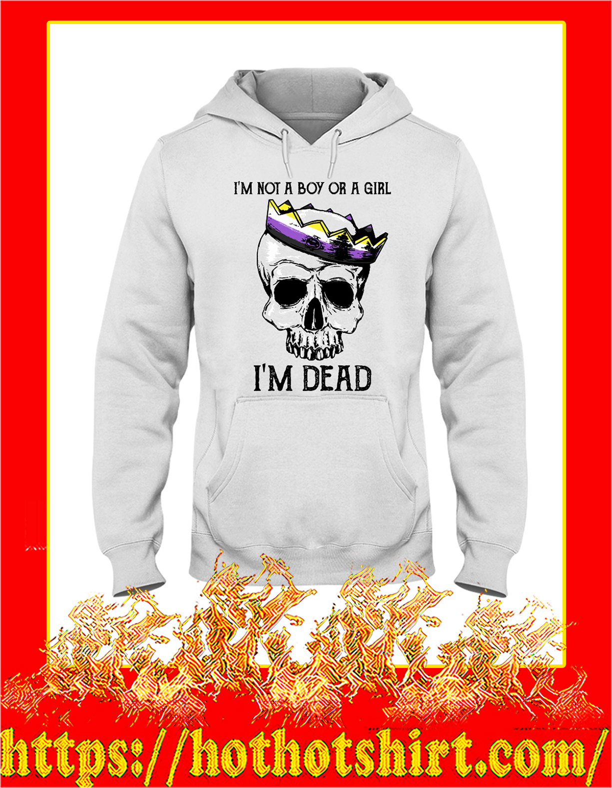LGBT I'm not a boy or a girl I'm dead hoodie