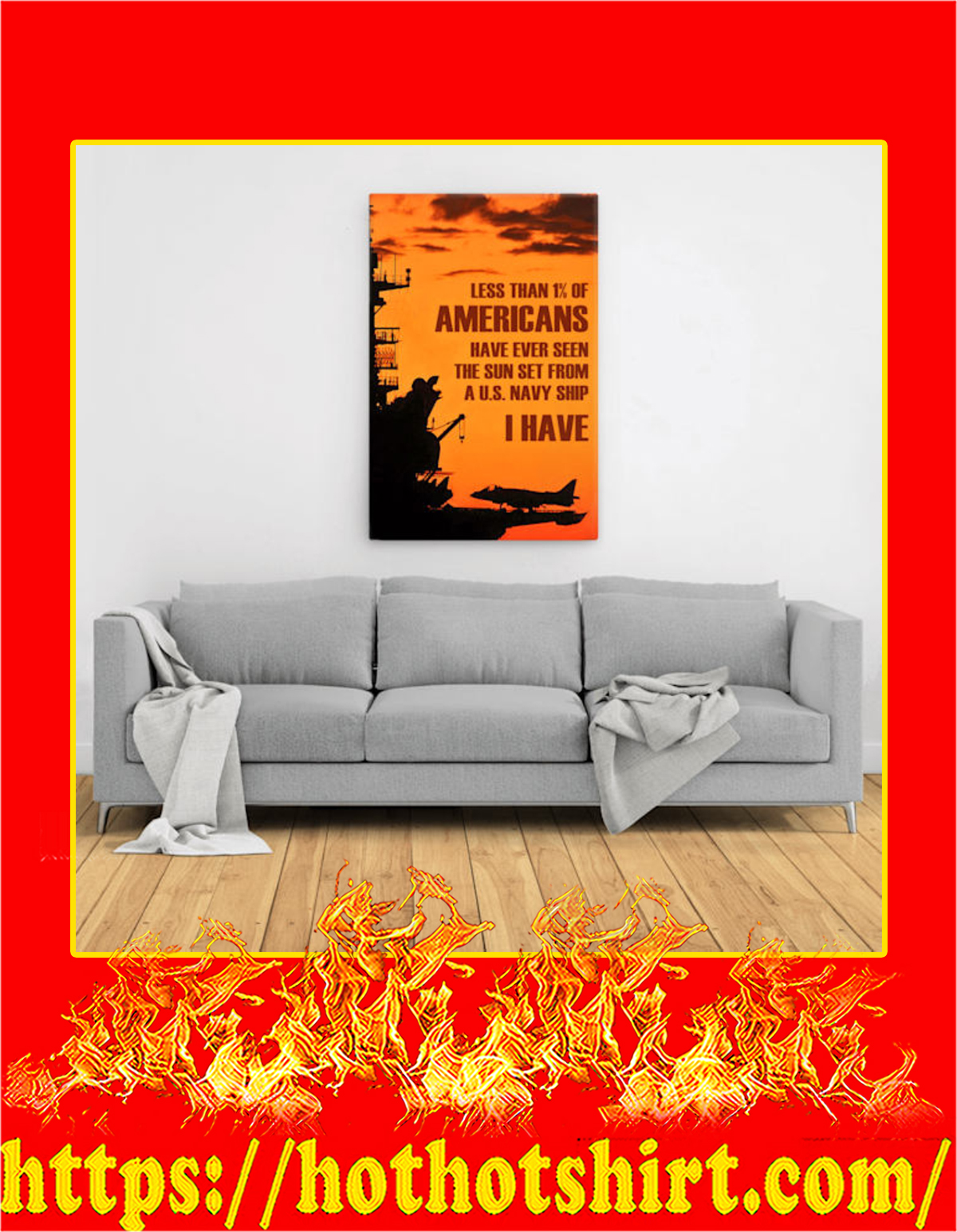 Less than 1% of americans US navy canvas prints - Large