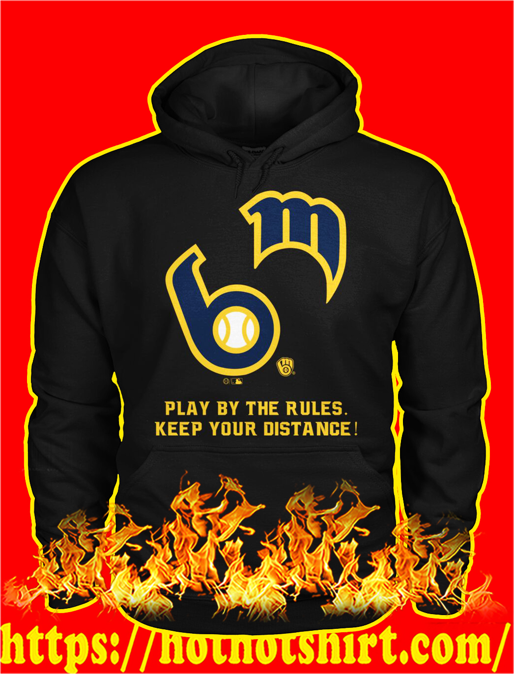 MLB play by the rules keep your distance hoodie