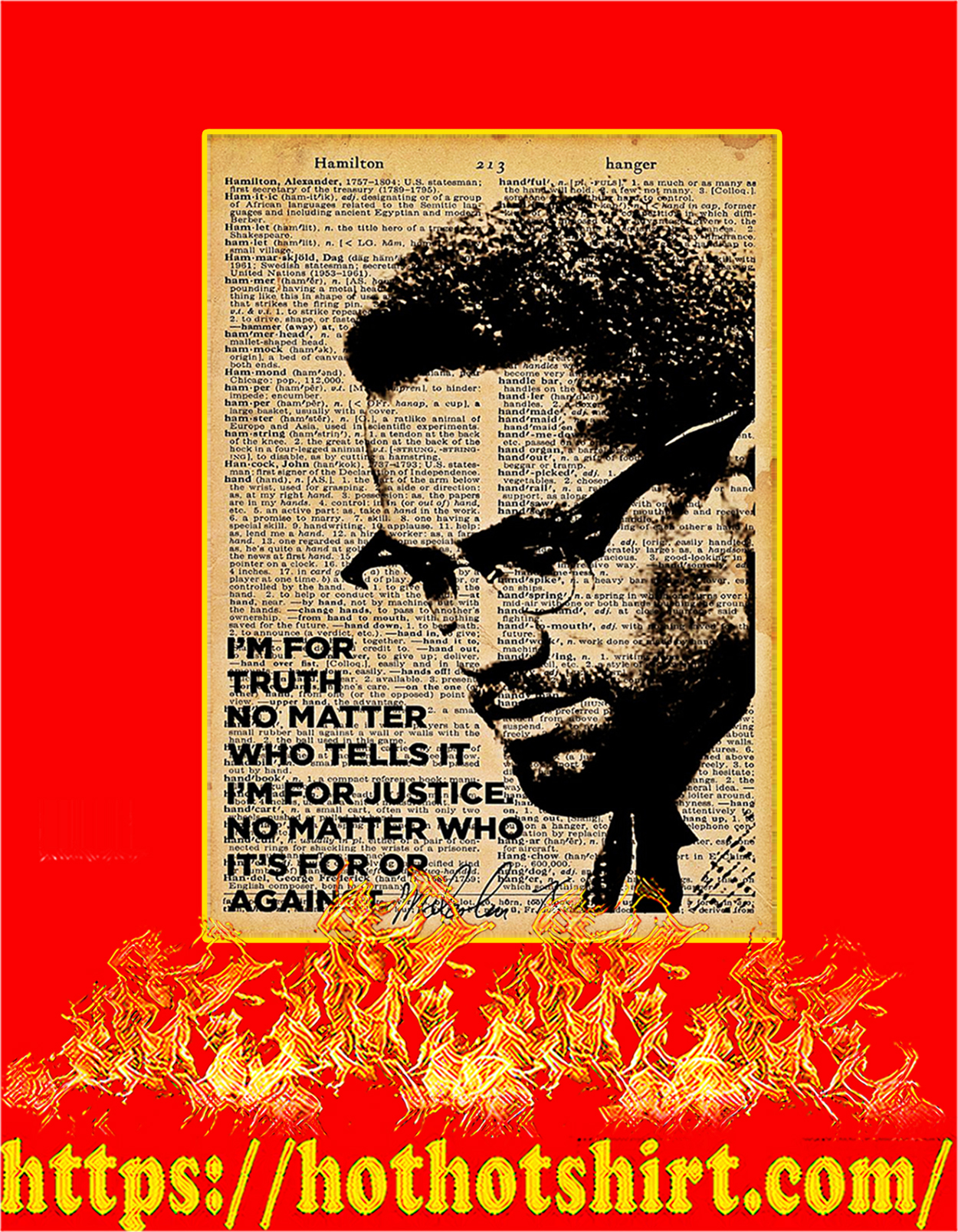 Malcolm x I'm for truth no matter who tells it poster - A3