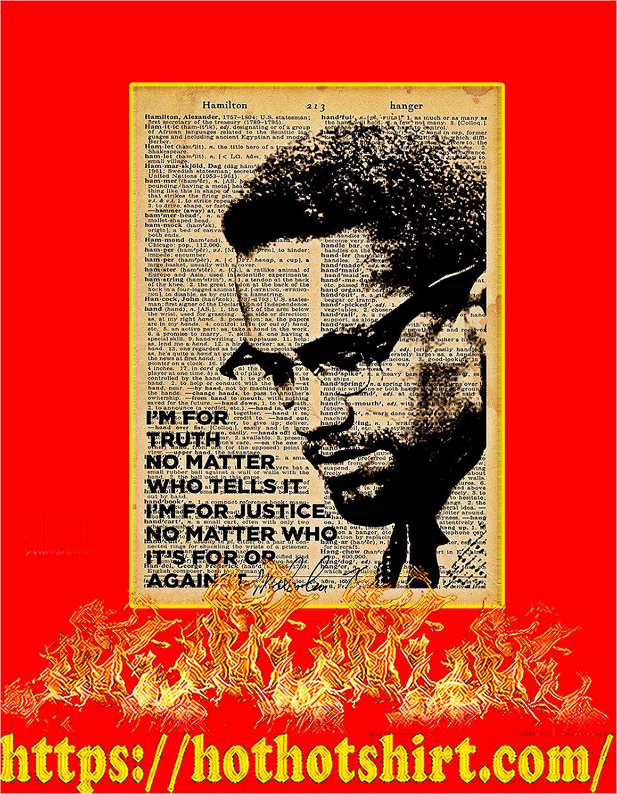 Malcolm x I'm for truth no matter who tells it poster - A4