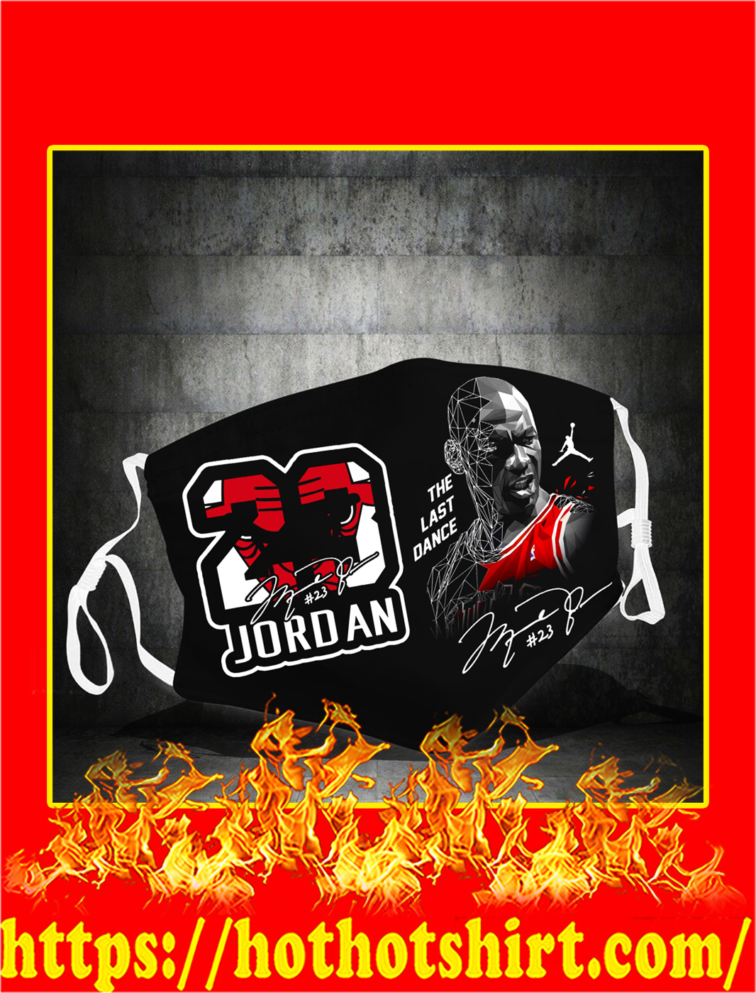 Michael Jordan the last dance face mask- pic 1