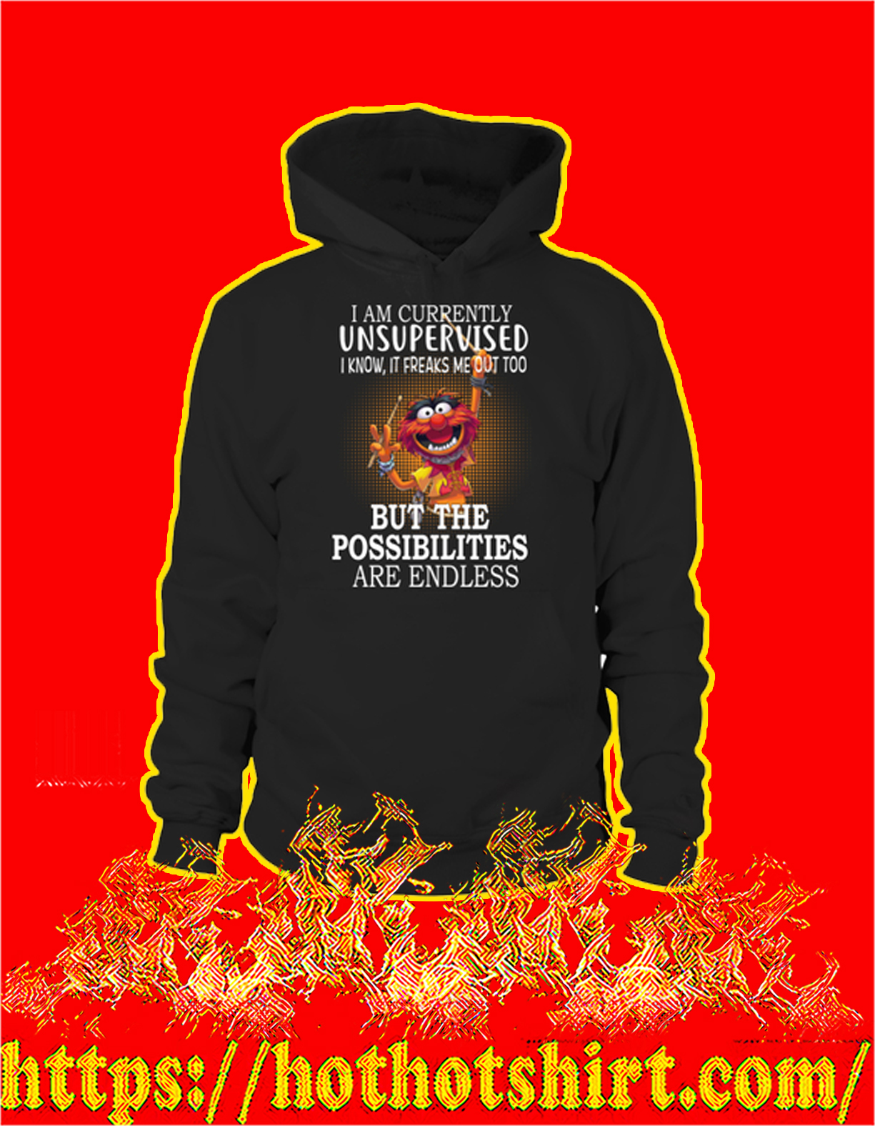 Muppets I am currently unsupervised I know it freaks me out too hoodie