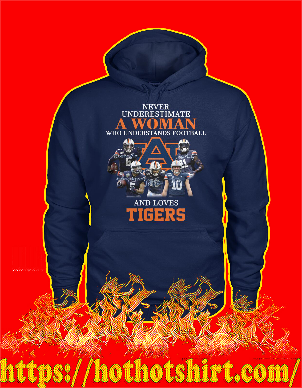 Never underestimate a woman understands football and loves tigers hoodie