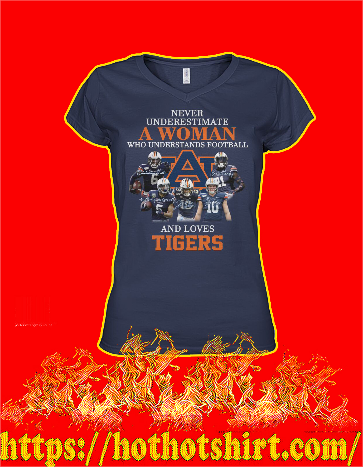 Never underestimate a woman understands football and loves tigers women shirt