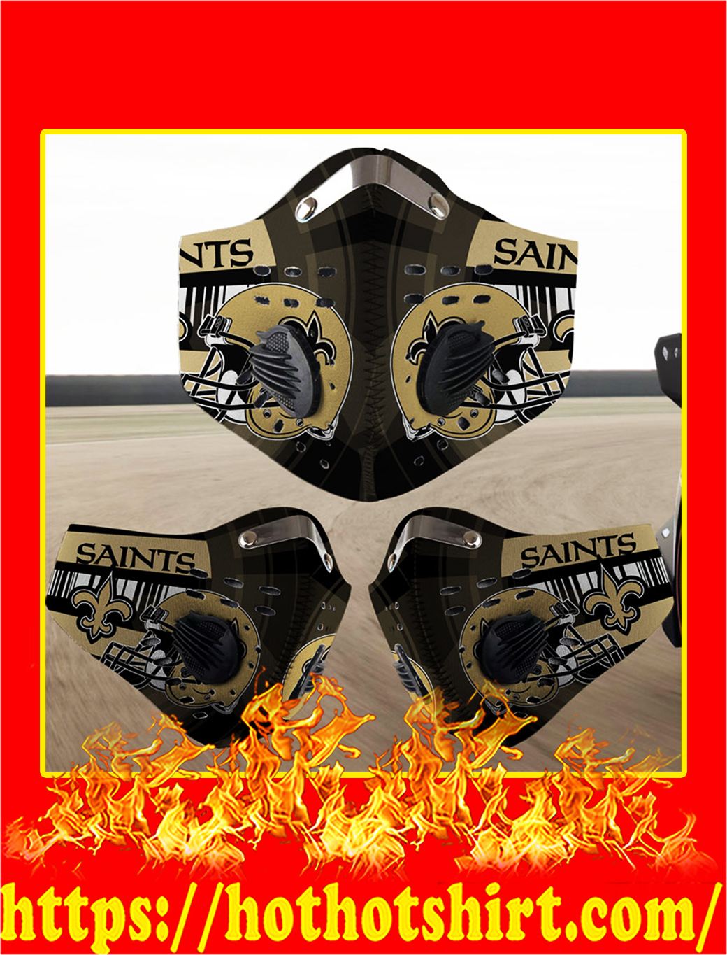 New Orleans Saints filter face mask- pic 1