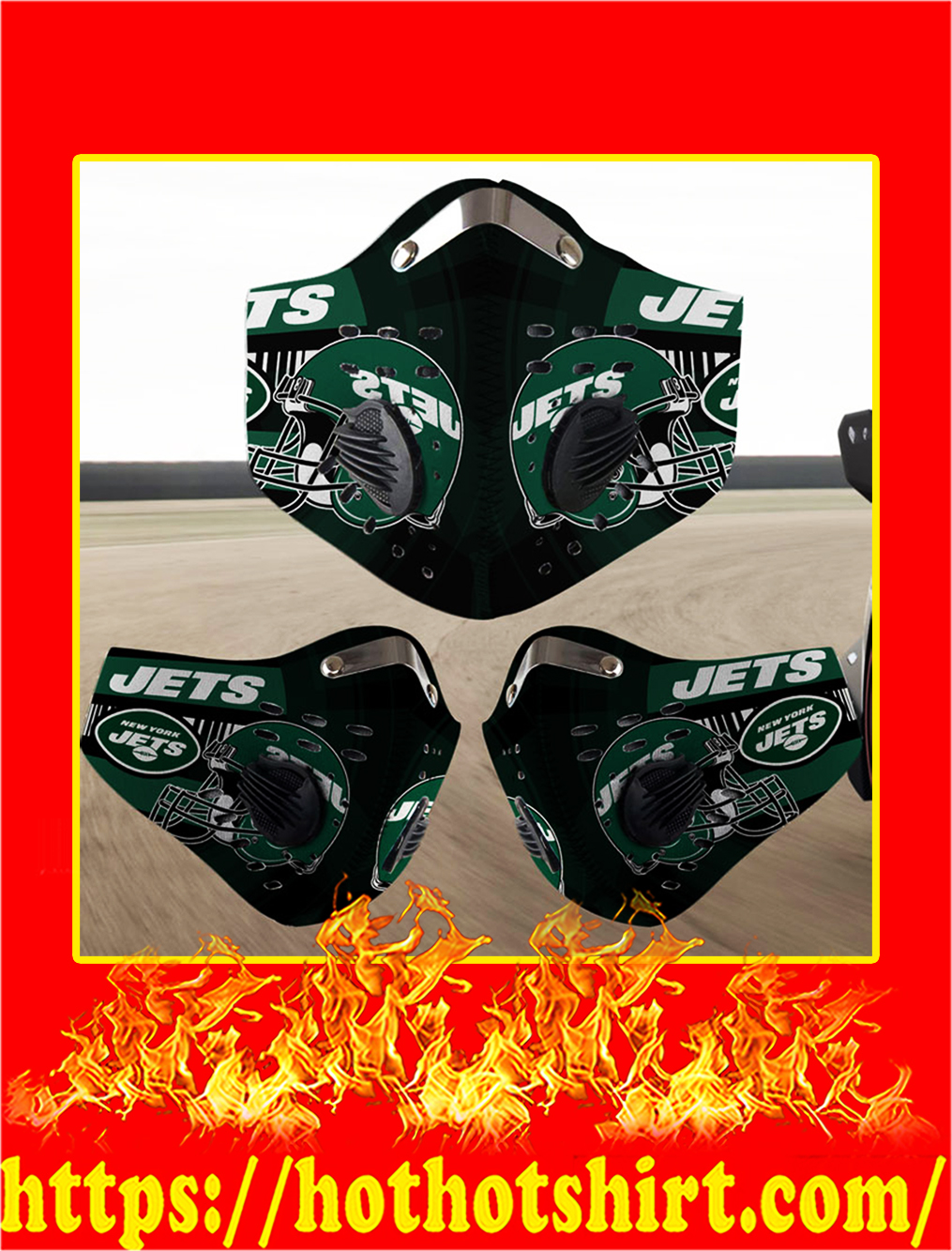 New York Jets filter face mask- pic 1