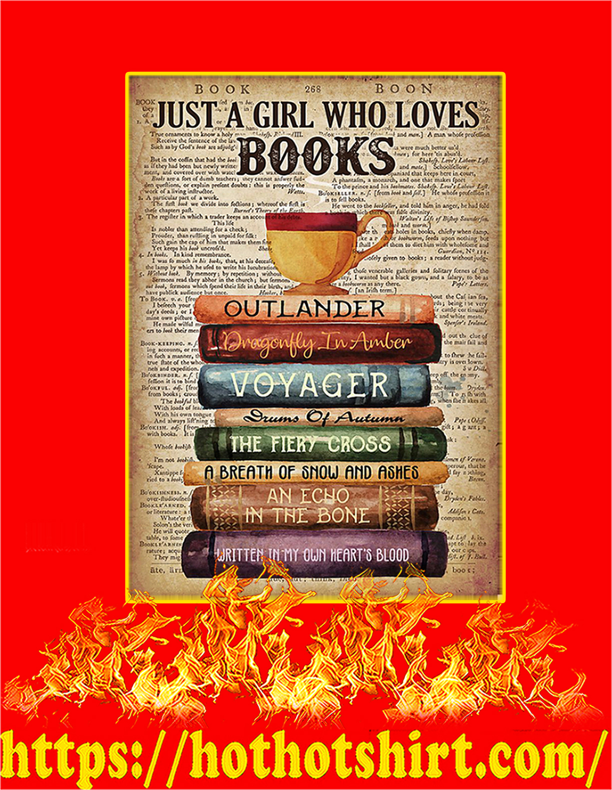 Outlander Just a girl who loves books poster - A4