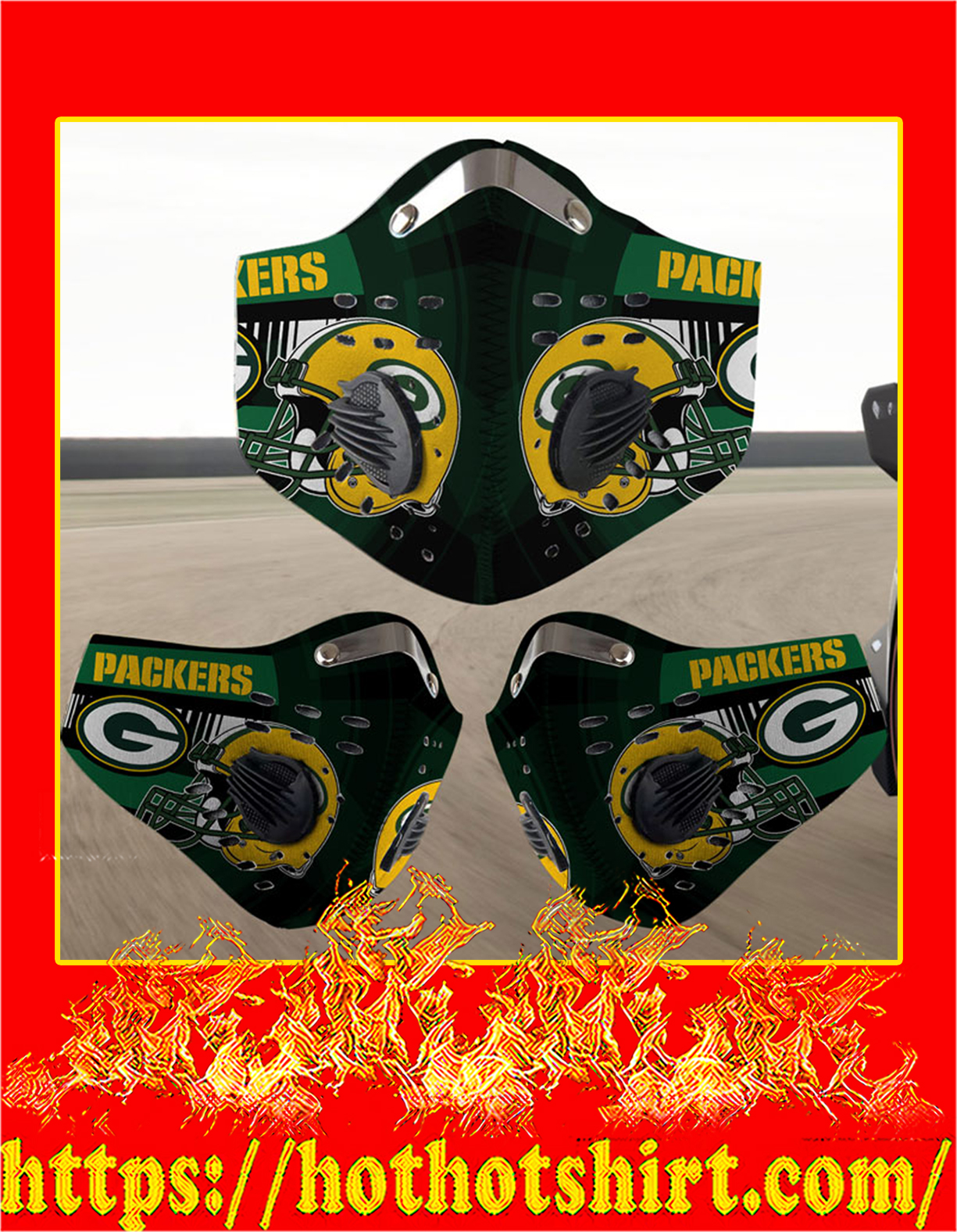 Packers filter face mask - Detail