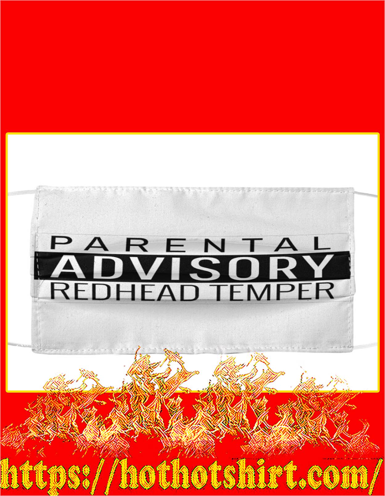 Parental advisory redhead temper face mask - detail