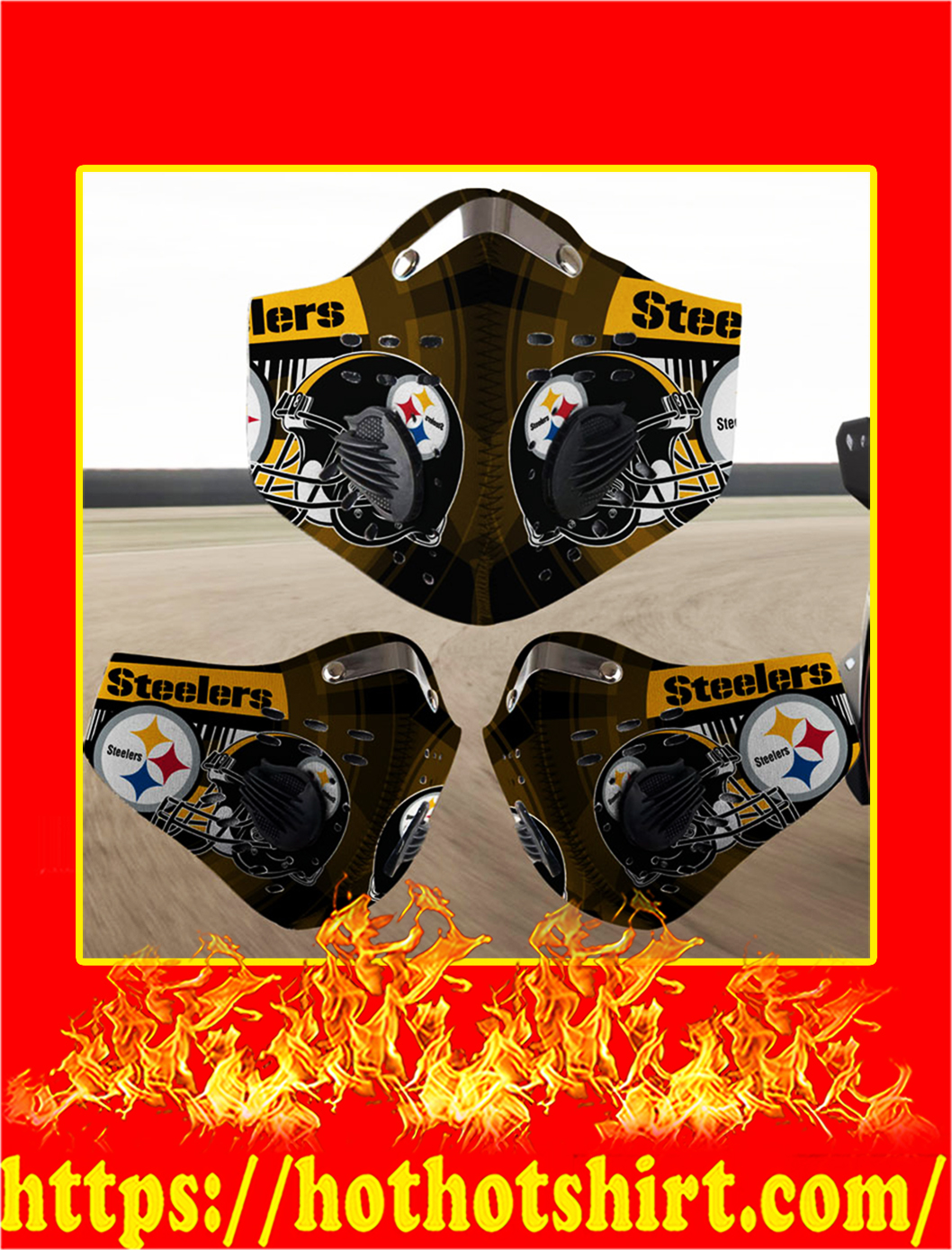 Pittsburgh Steelers filter face mask- pic 1