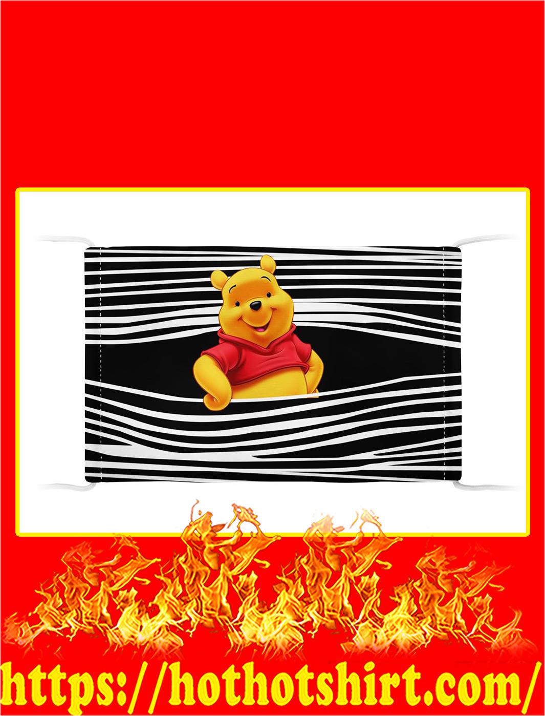Pooh bear 3d face mask