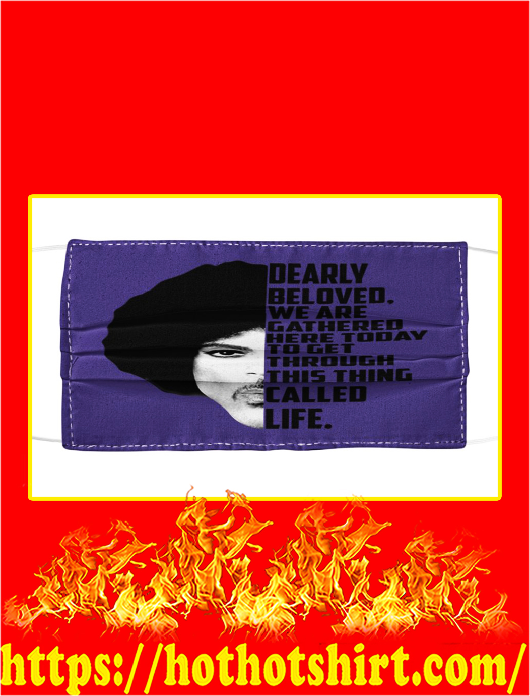 Prince Dearly beloved we are gathered face mask- pic 1