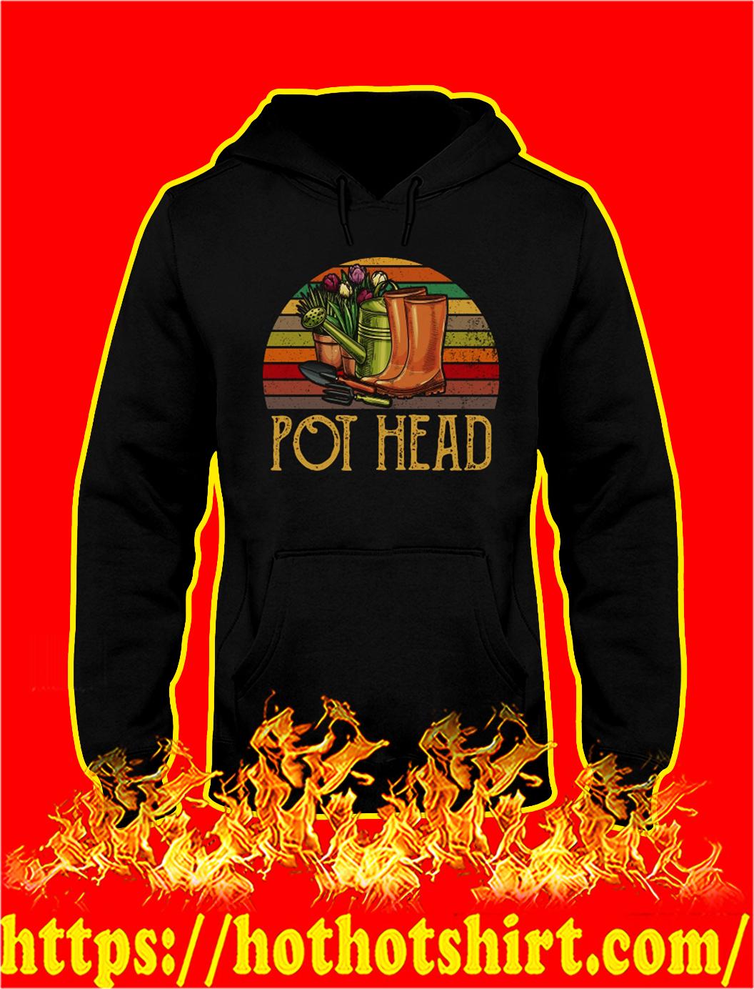 Retro Sun Pot Head Gardening hoodie