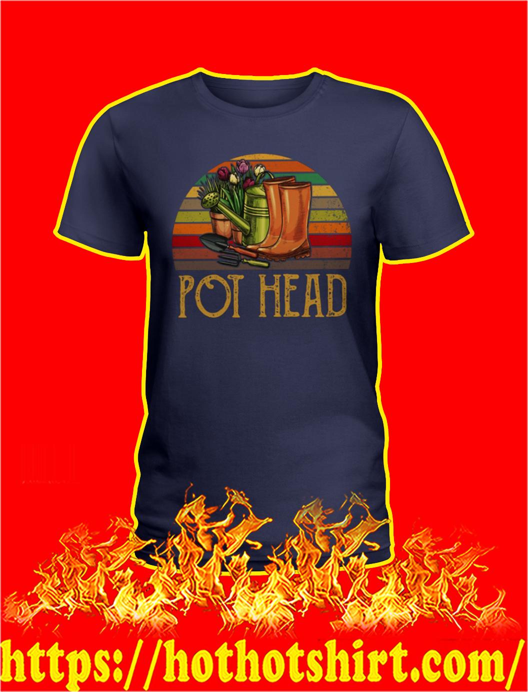 Retro Sun Pot Head Gardening lady shirt