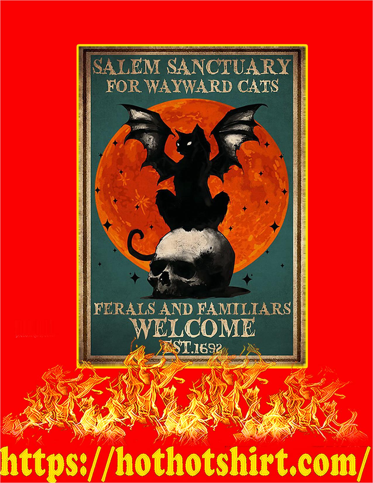 Salem sanctuary for wayward cats poster - A2
