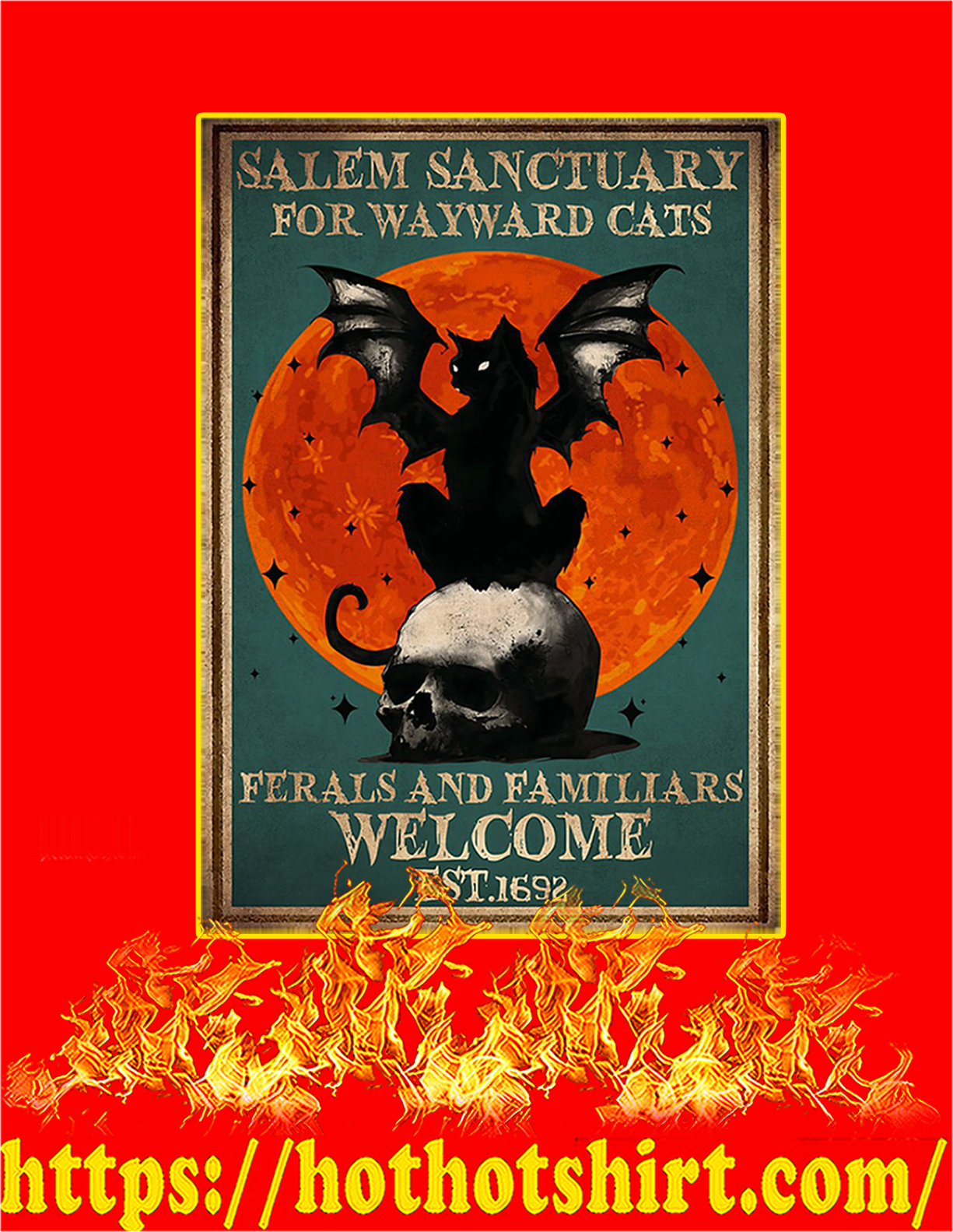 Salem sanctuary for wayward cats poster - A4