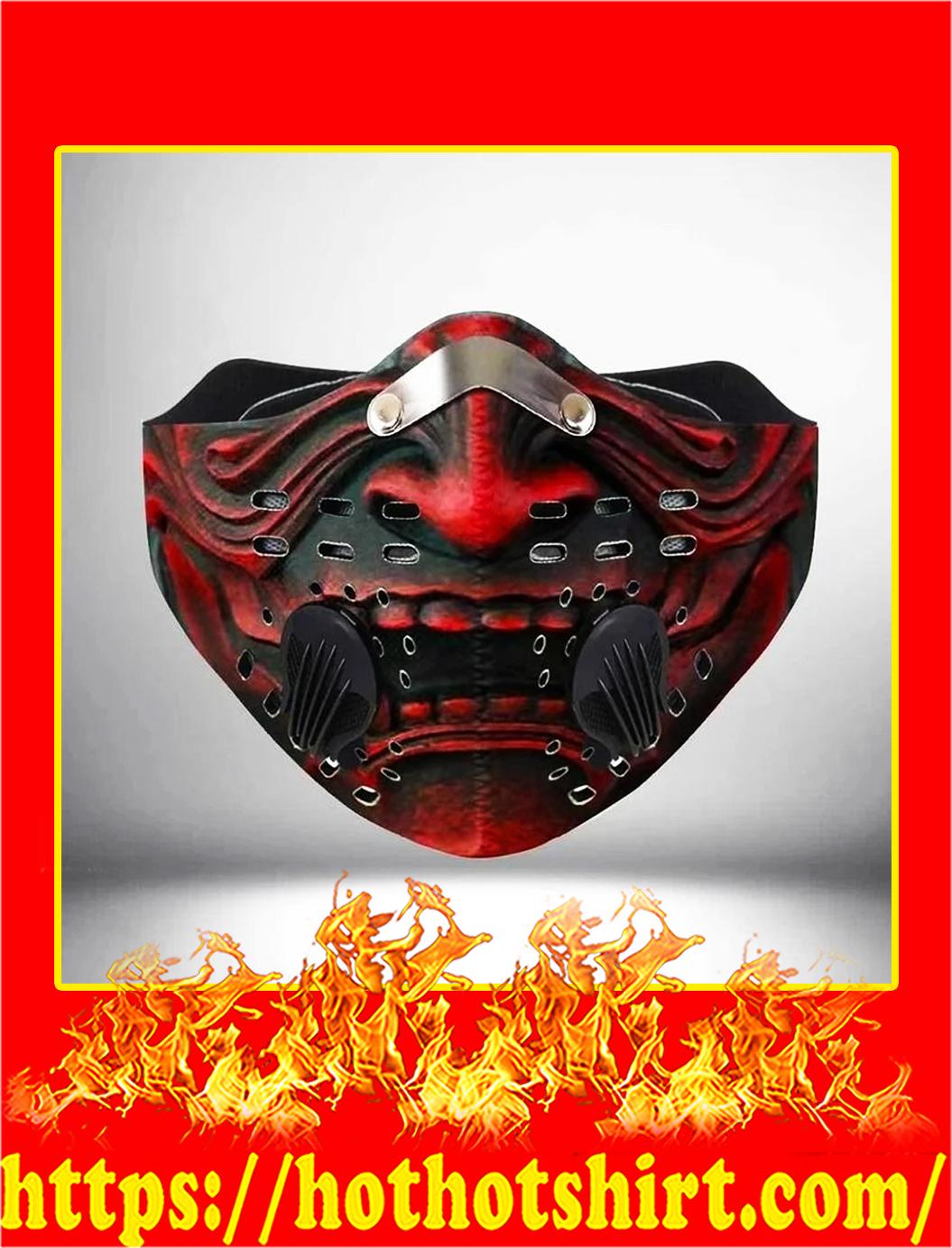 Samurai filter face mask- pic 1