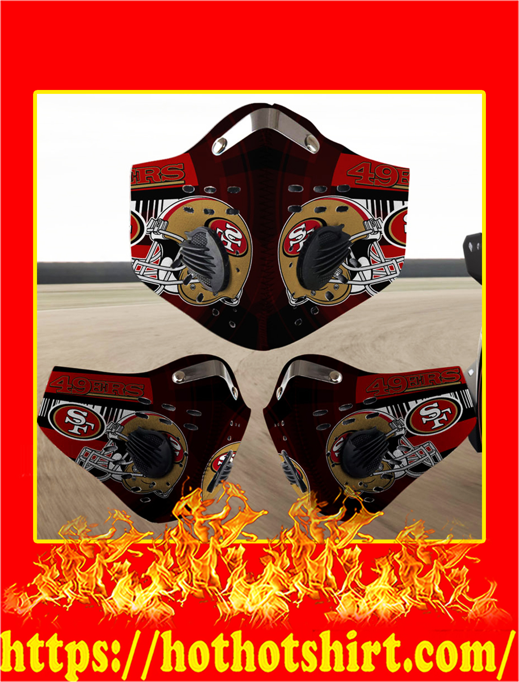 San Francisco 49ers filter face mask- pic 1