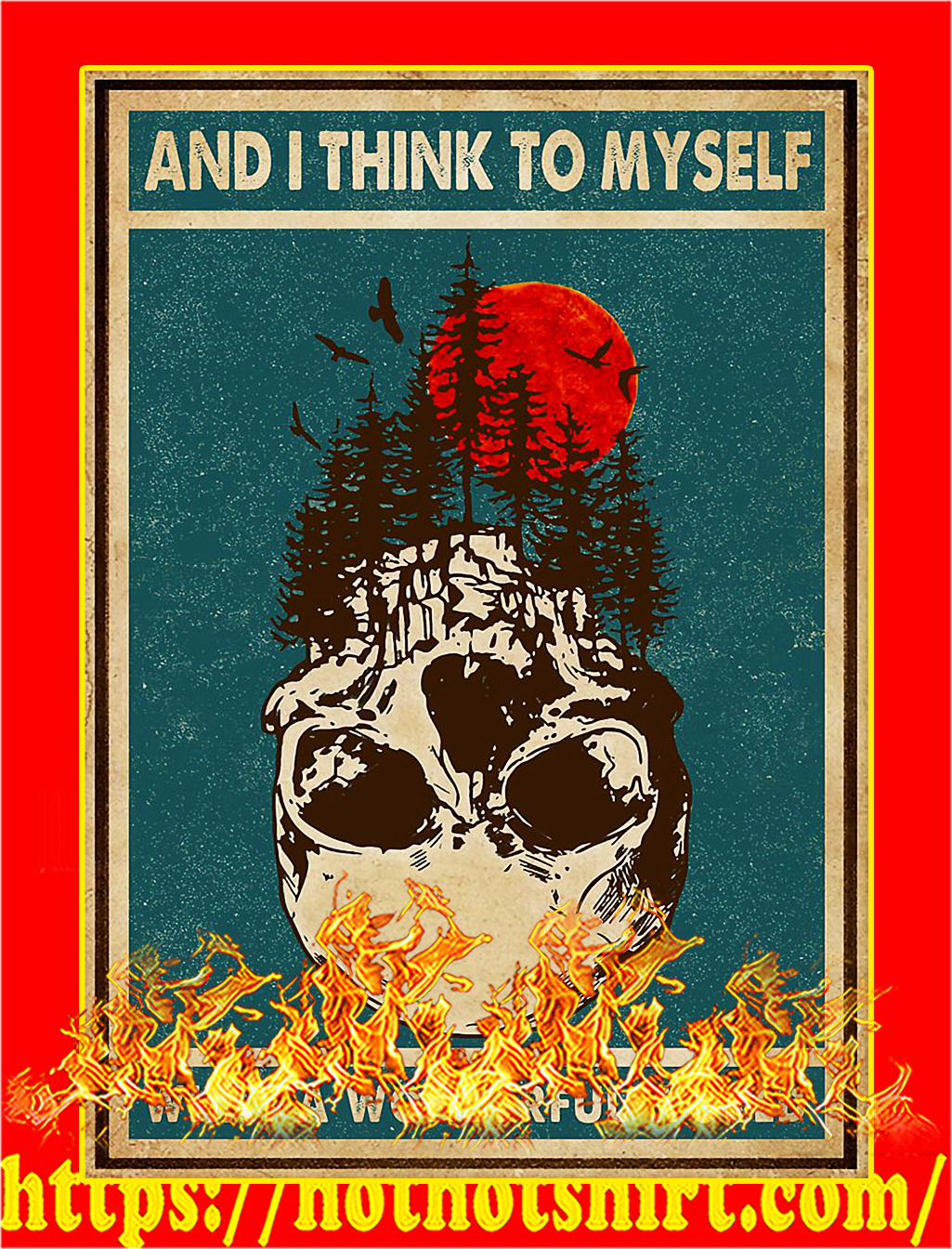 Skull and I think to myself what a wonderful world poster - A4