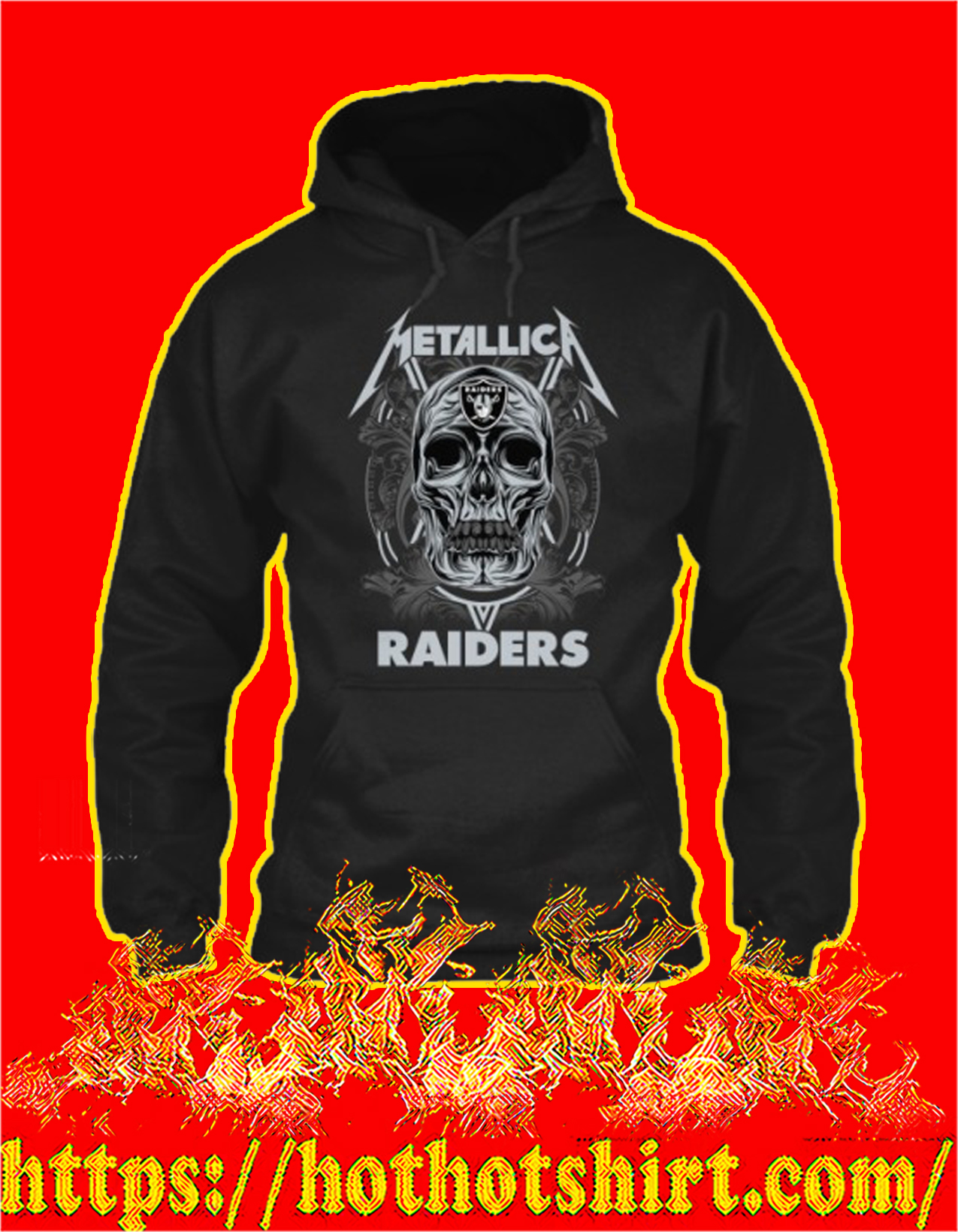 Skull metallica raiders hoodie