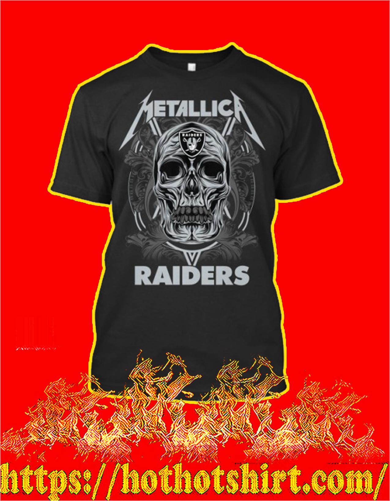 Skull metallica raiders shirt