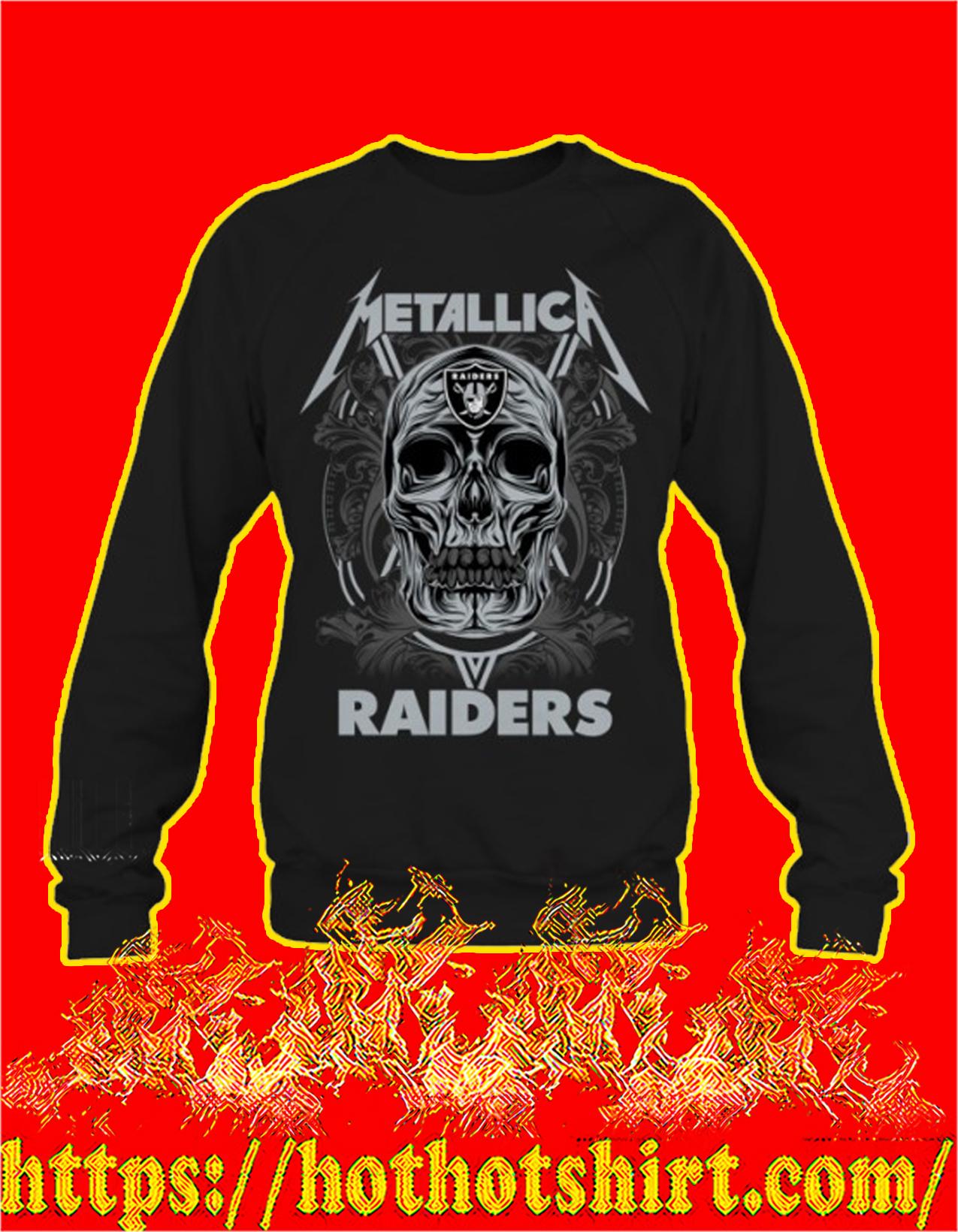Skull metallica raiders sweatshirt