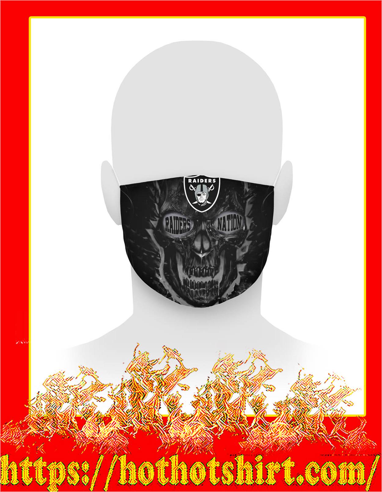 Skull raiders 3d face mask - detail