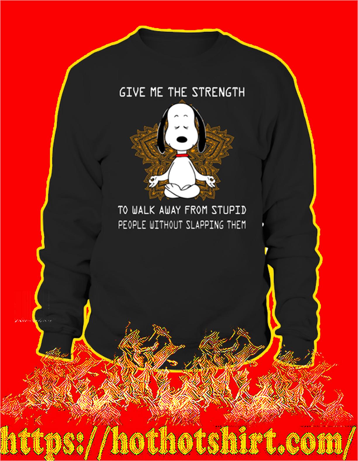 Snoopy yoga give me the strength sweatshirt
