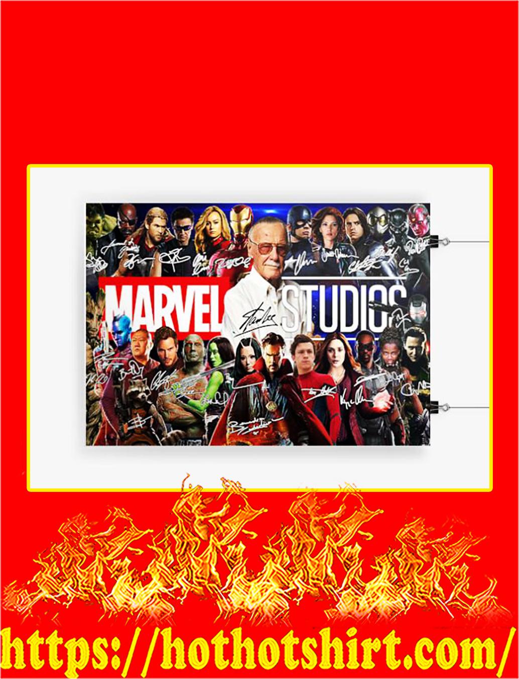 Stan lee marvel studios signature poster - A3