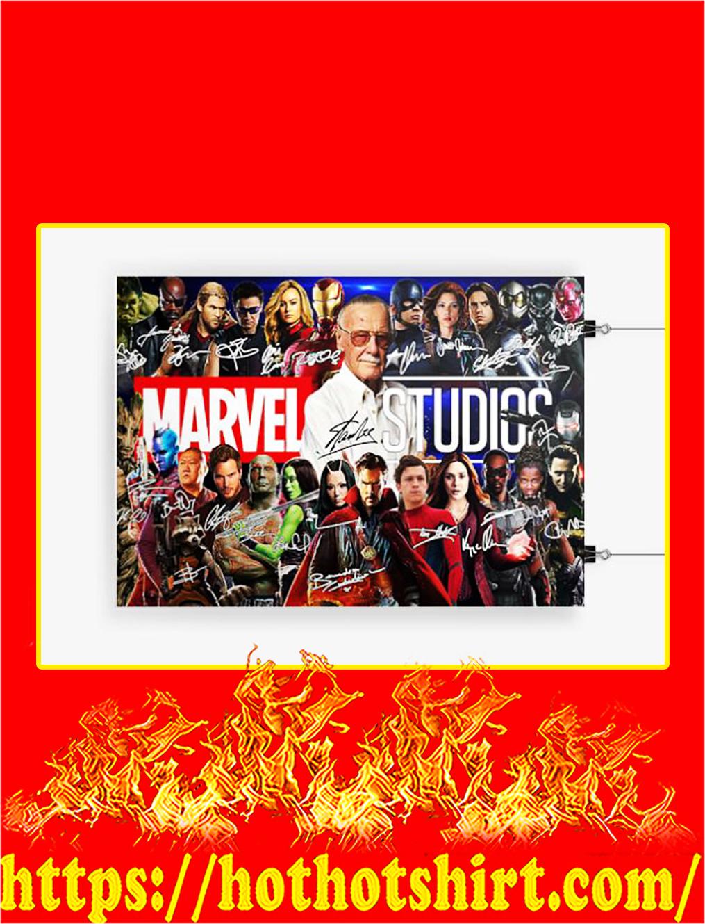 Stan lee marvel studios signature poster - A4