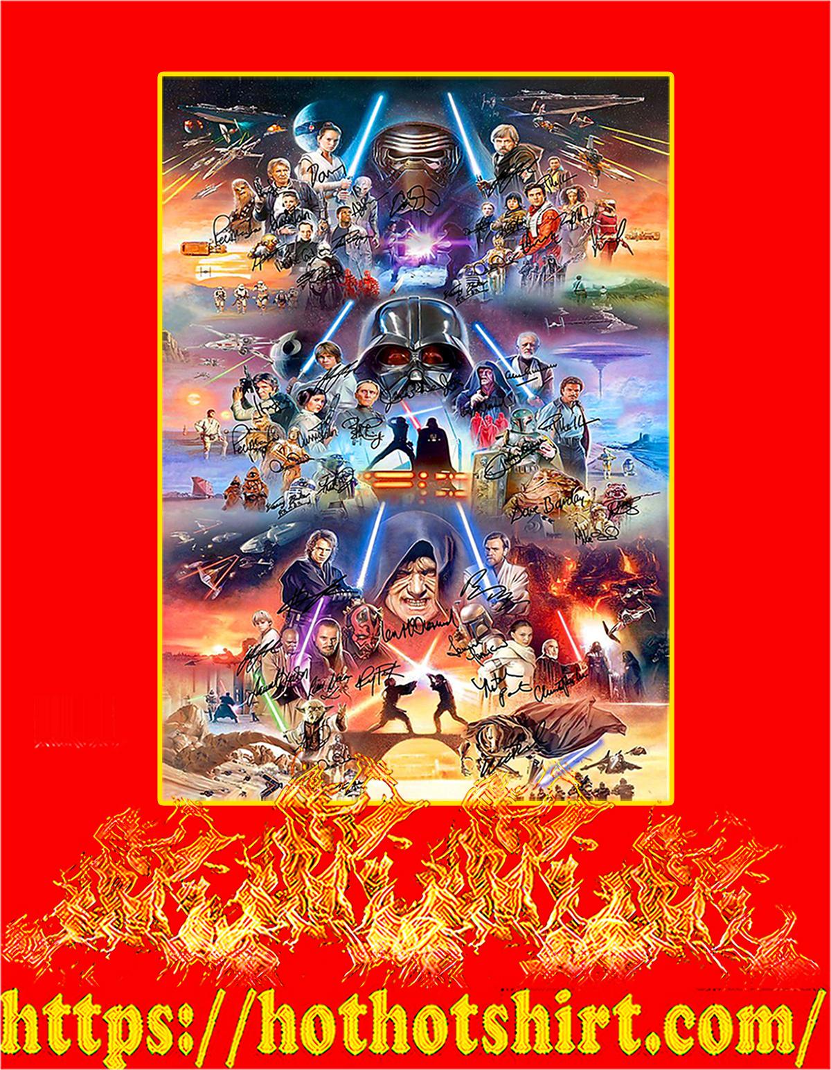 Star Wars Signature Poster