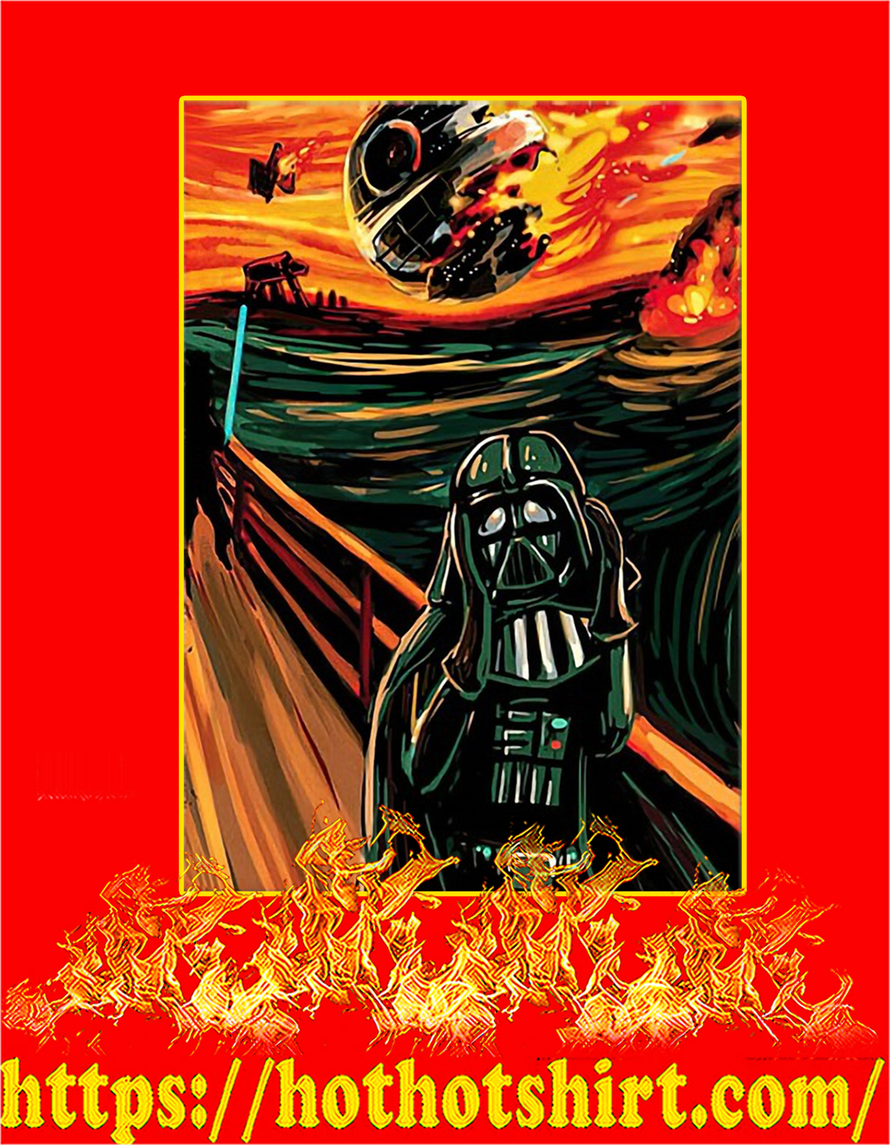 Star Wars The Vader Scream Poster - A3