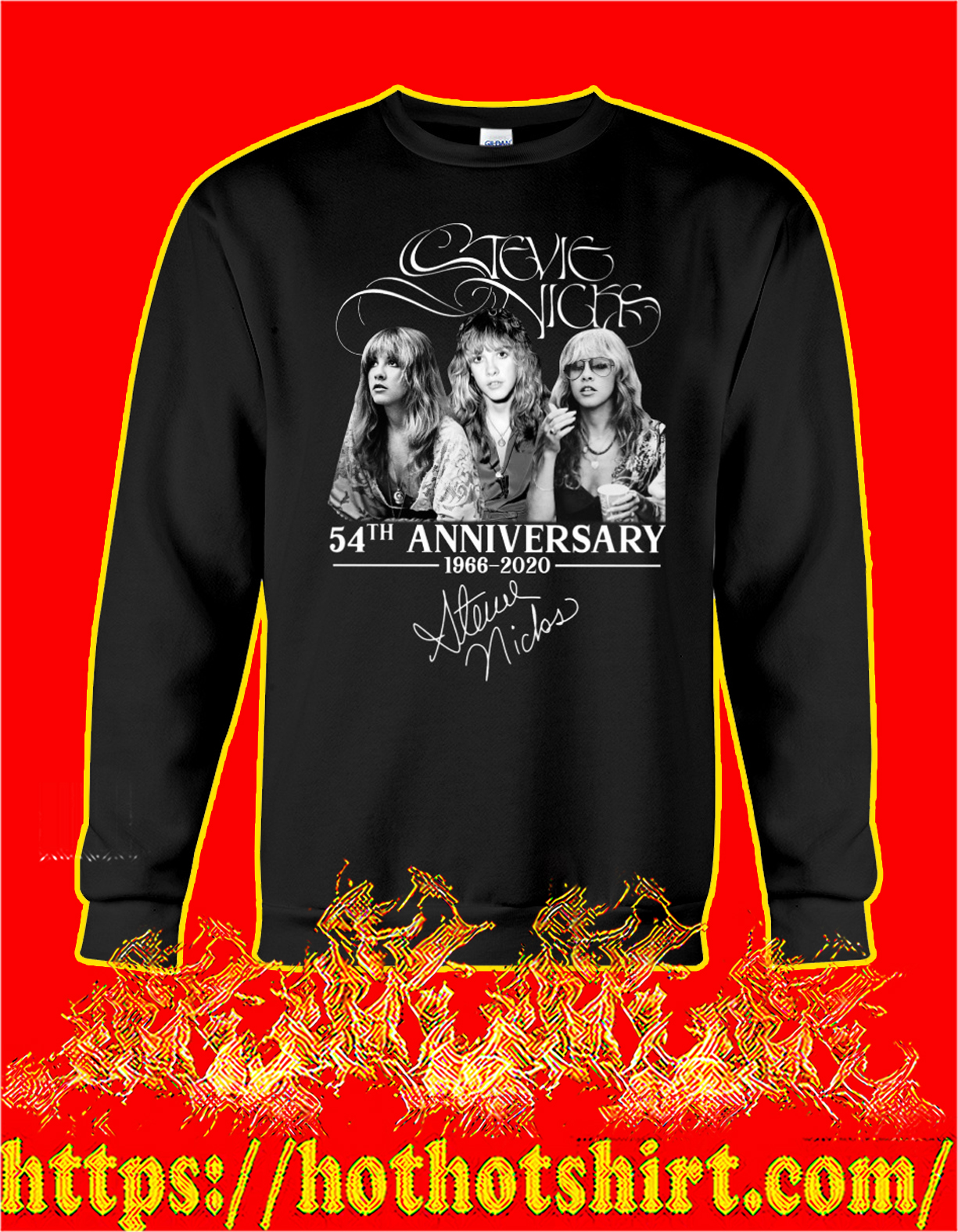 Stevie nicks 54th anniversary signature sweatshirt