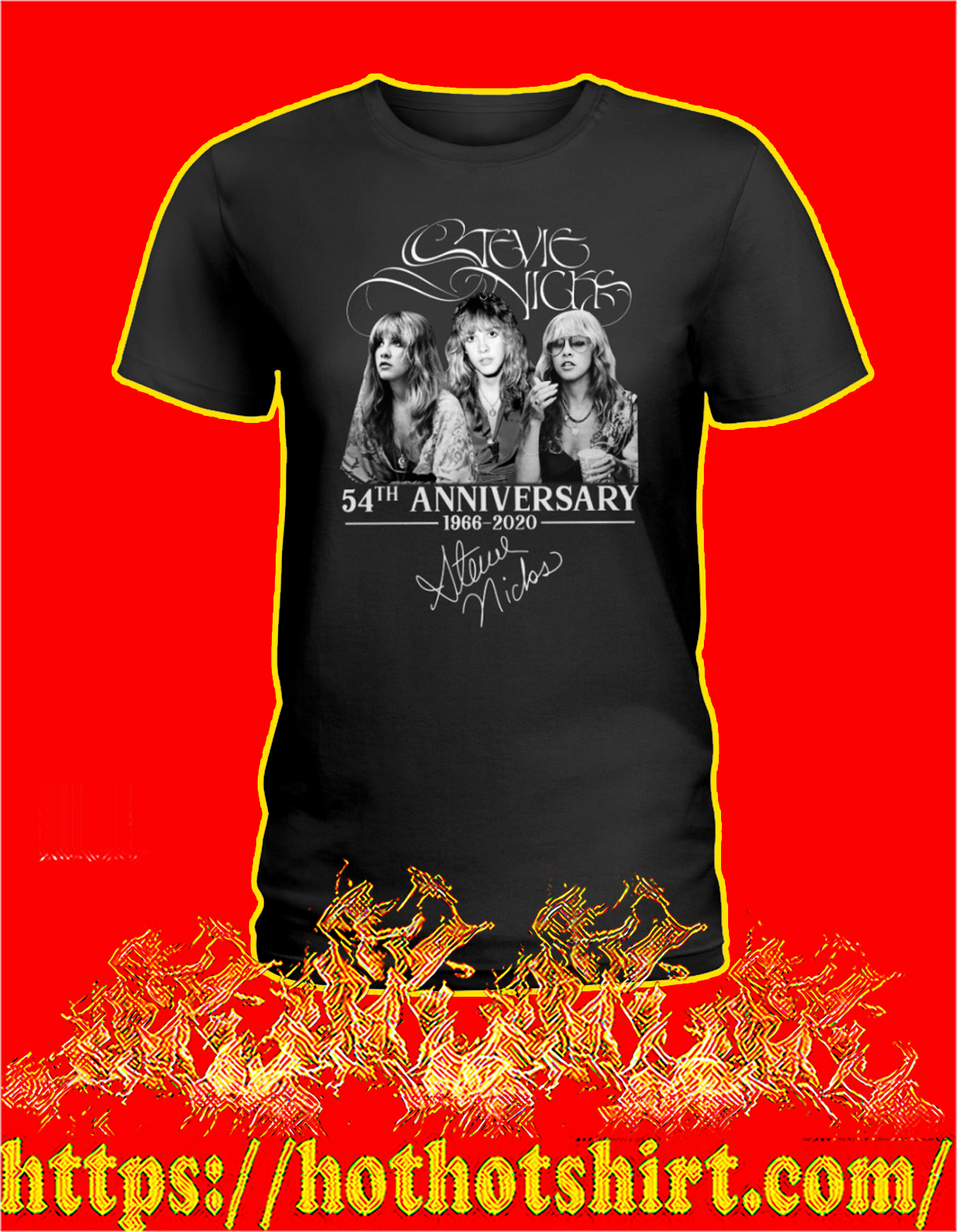 Stevie nicks 54th anniversary signature women shirt