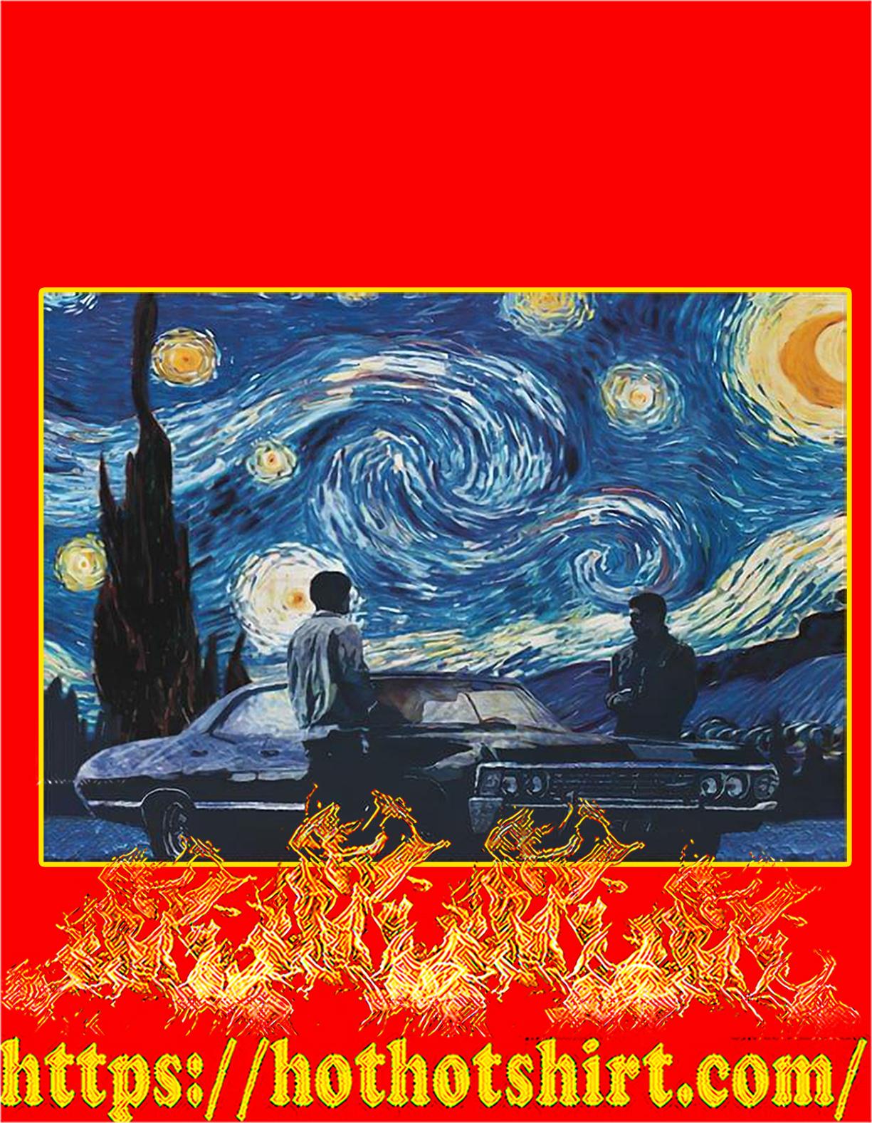 SupernaturaI starry night van gogh poster - A4