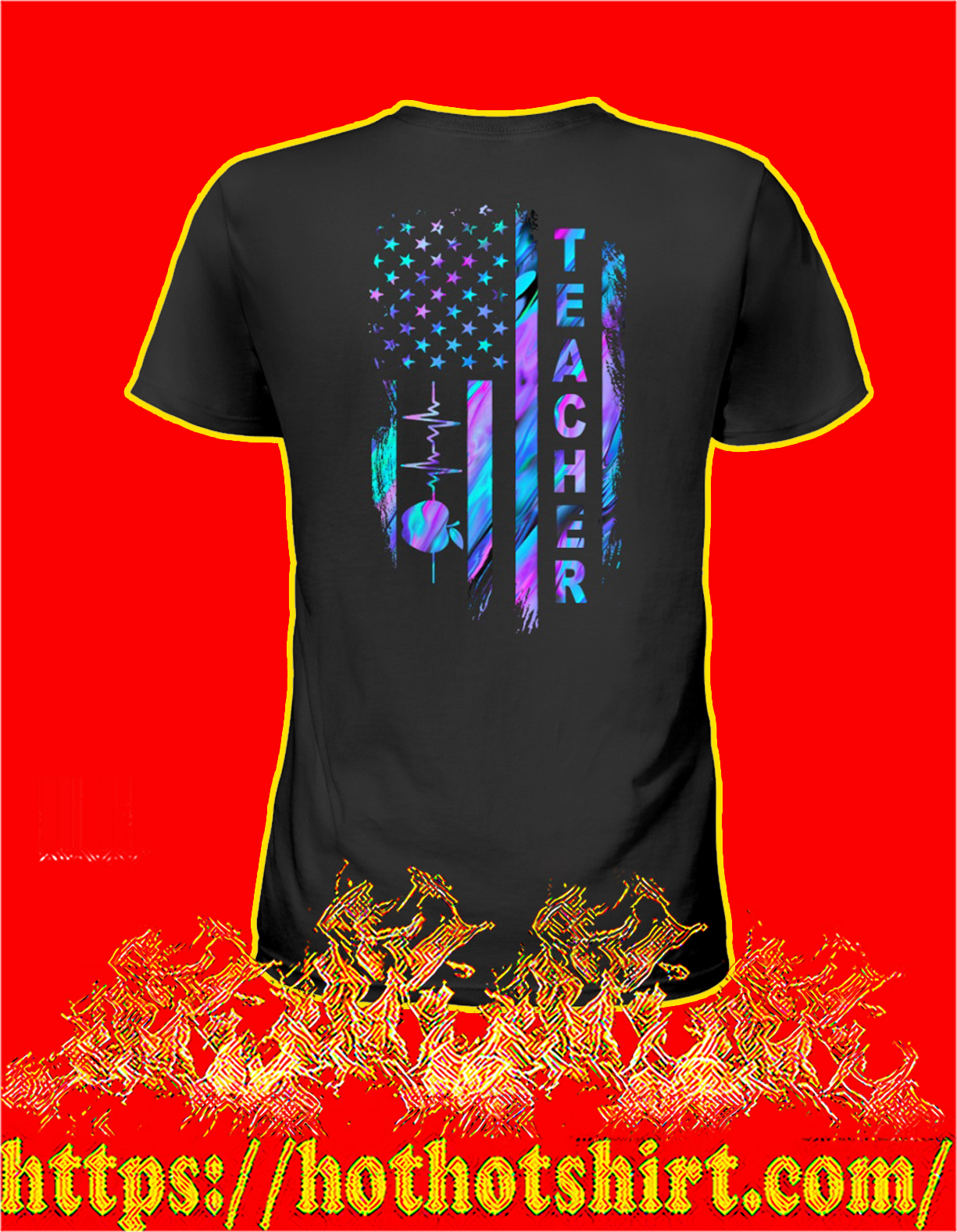 Teacher american flag women shirt