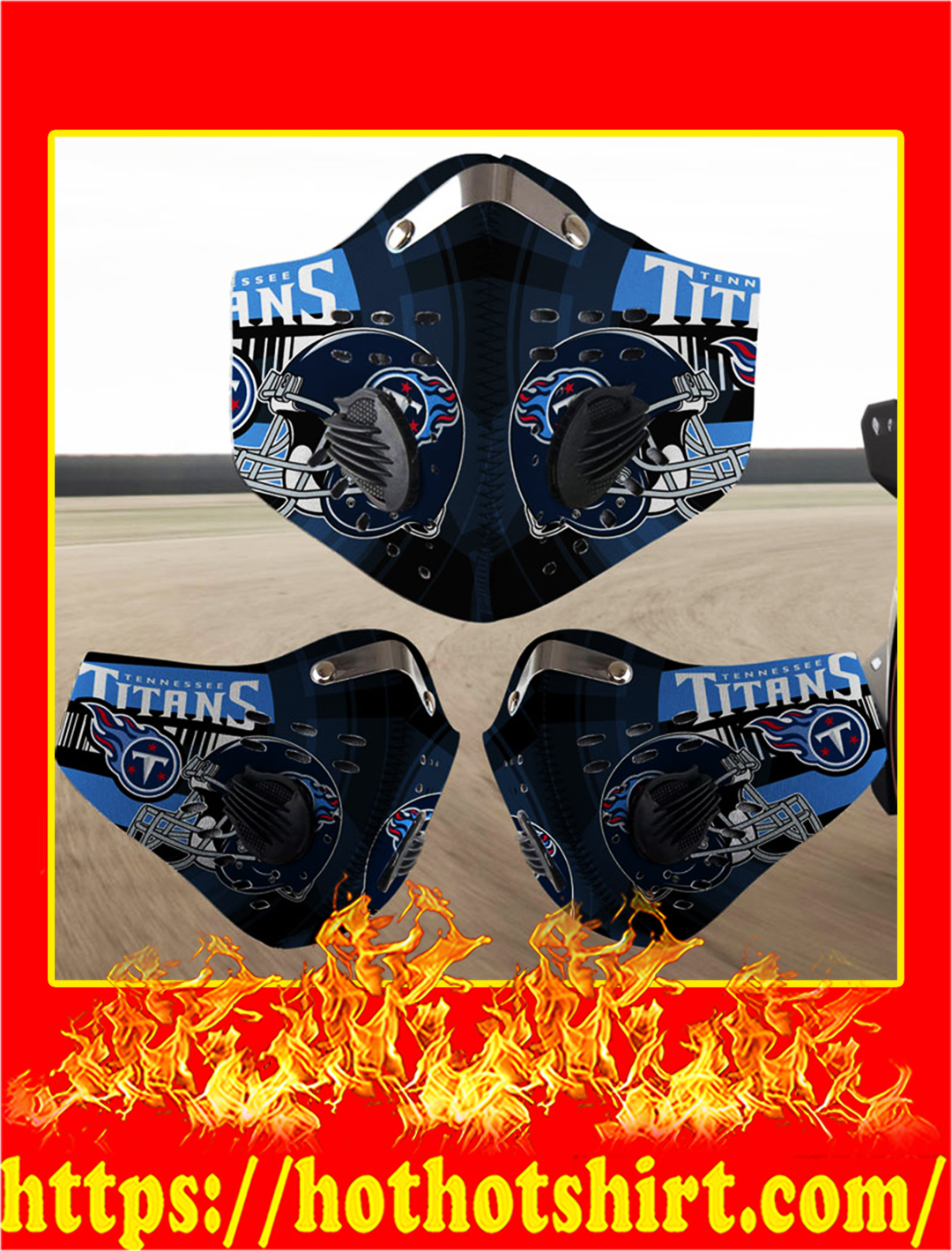 Tennessee Titans filter face mask- pic 1