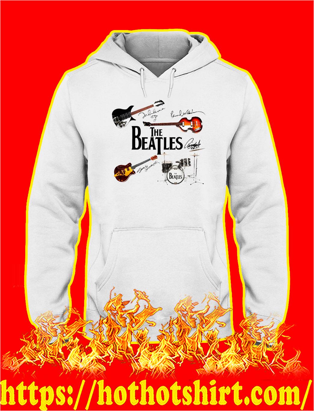 The beatles guitar drum signature hoodieThe beatles guitar drum signature hoodie
