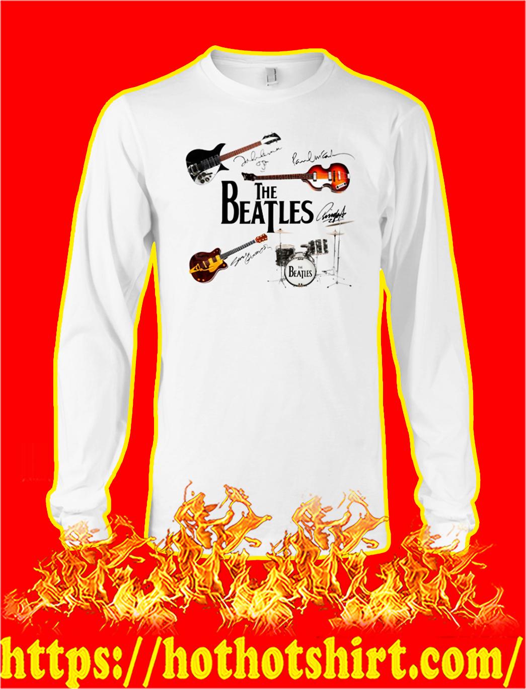 The beatles guitar drum signature longsleeve tee
