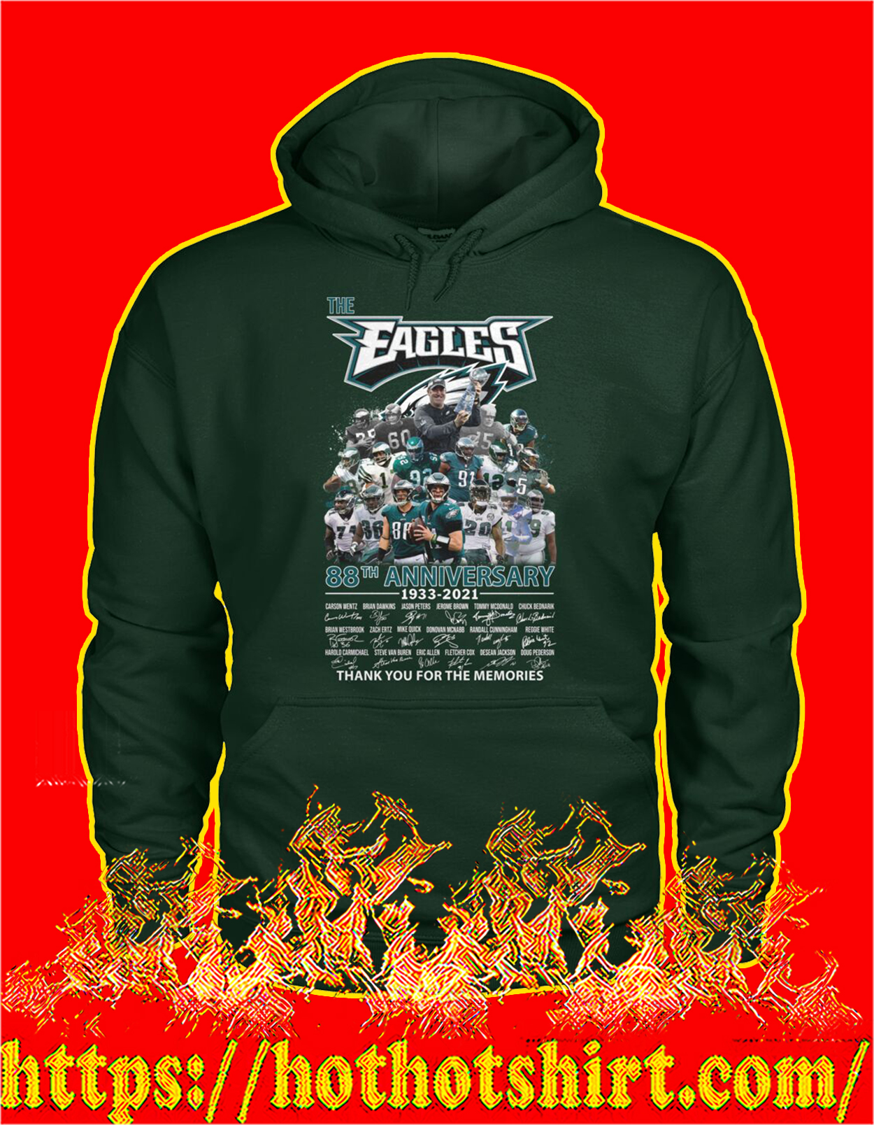 The eagles 88th anniversary thank you for the memories hoodie