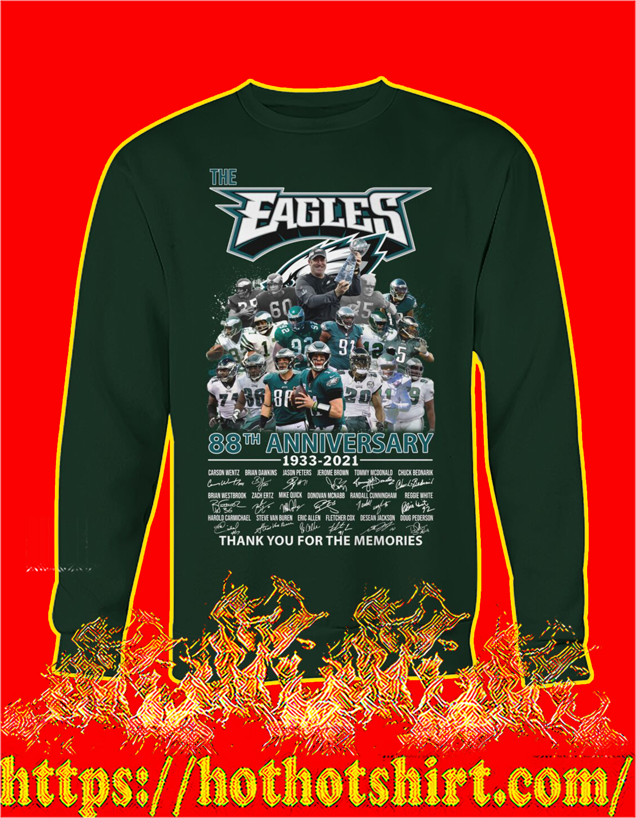 The eagles 88th anniversary thank you for the memories sweatshirt