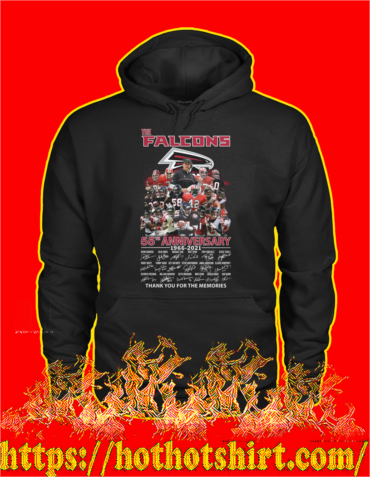 The falcons 55th anniversary thank you for the memories hoodie