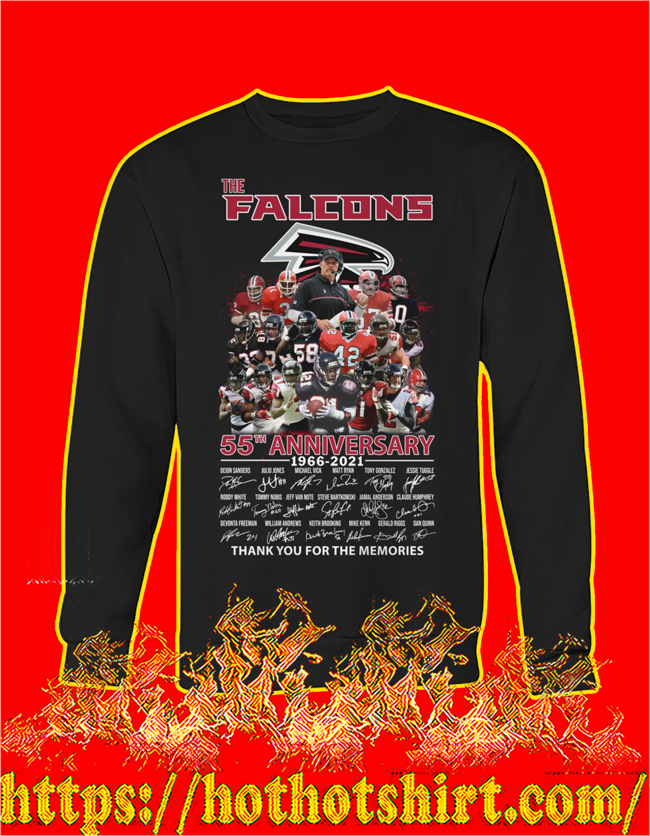 The falcons 55th anniversary thank you for the memories sweatshirt