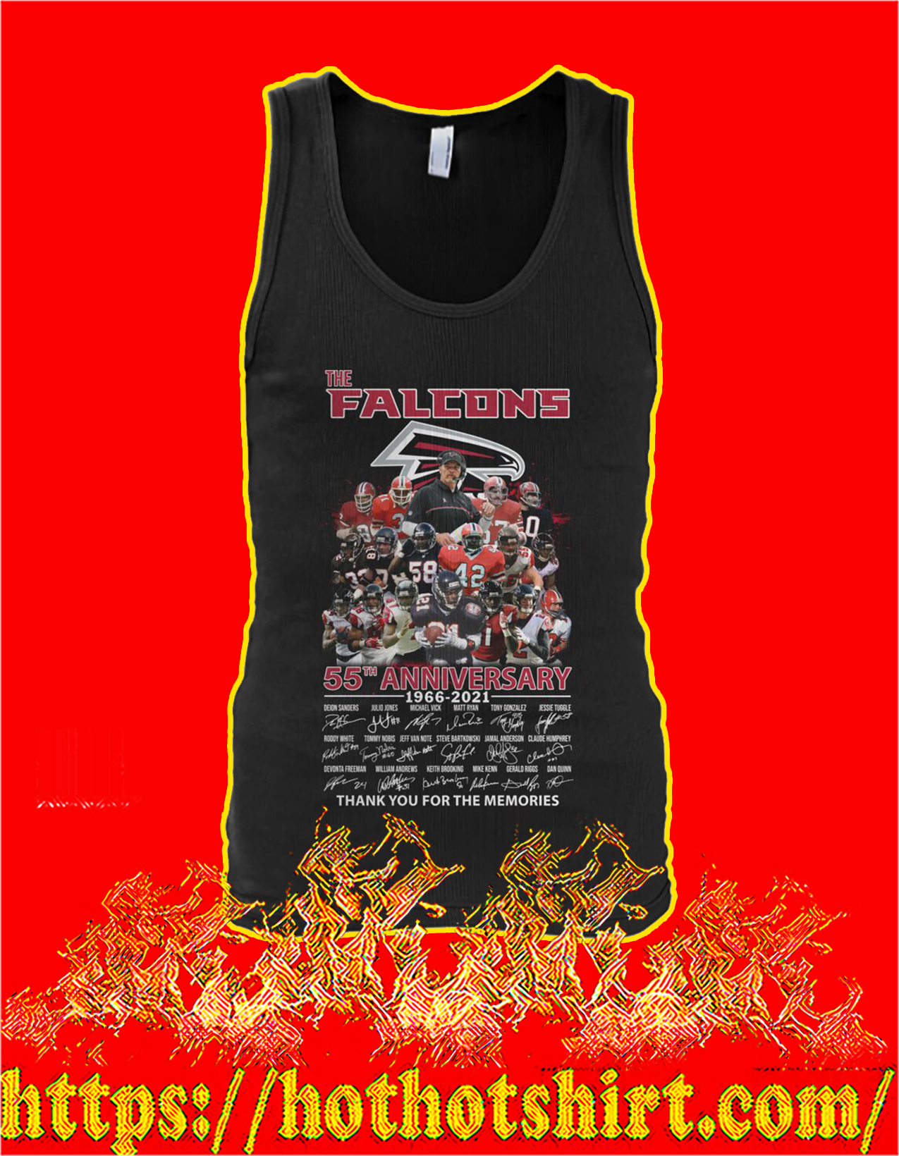The falcons 55th anniversary thank you for the memories tank top