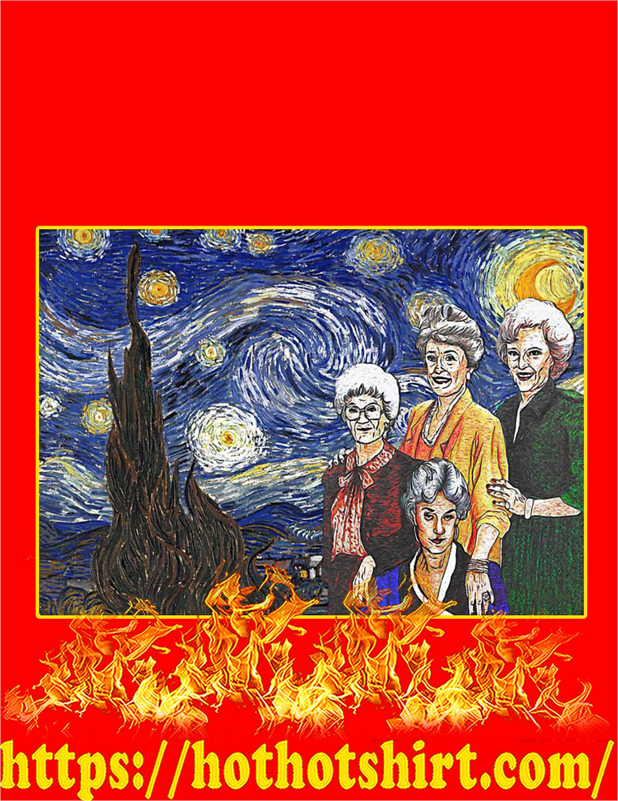 The golden girls starry night poster - A3