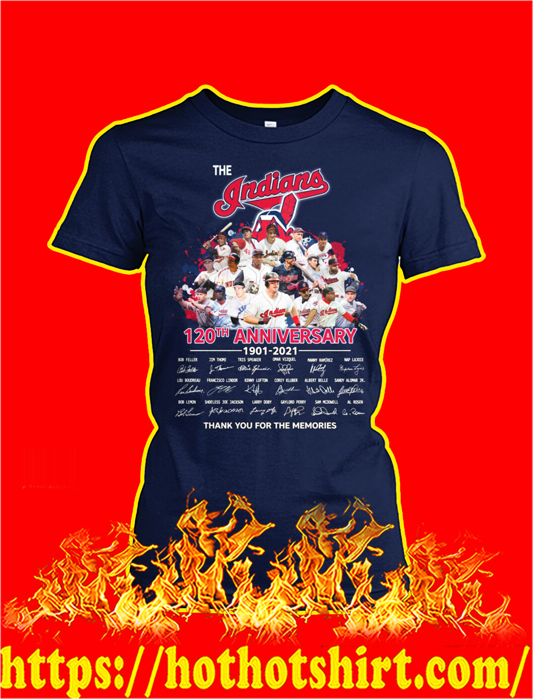 The indians 120th anniversary thank you for the memories lady shirt