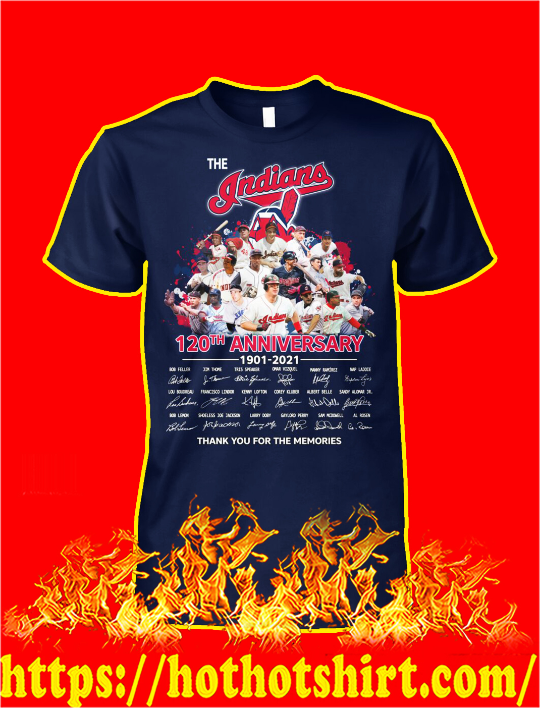 The indians 120th anniversary thank you for the memories shirt