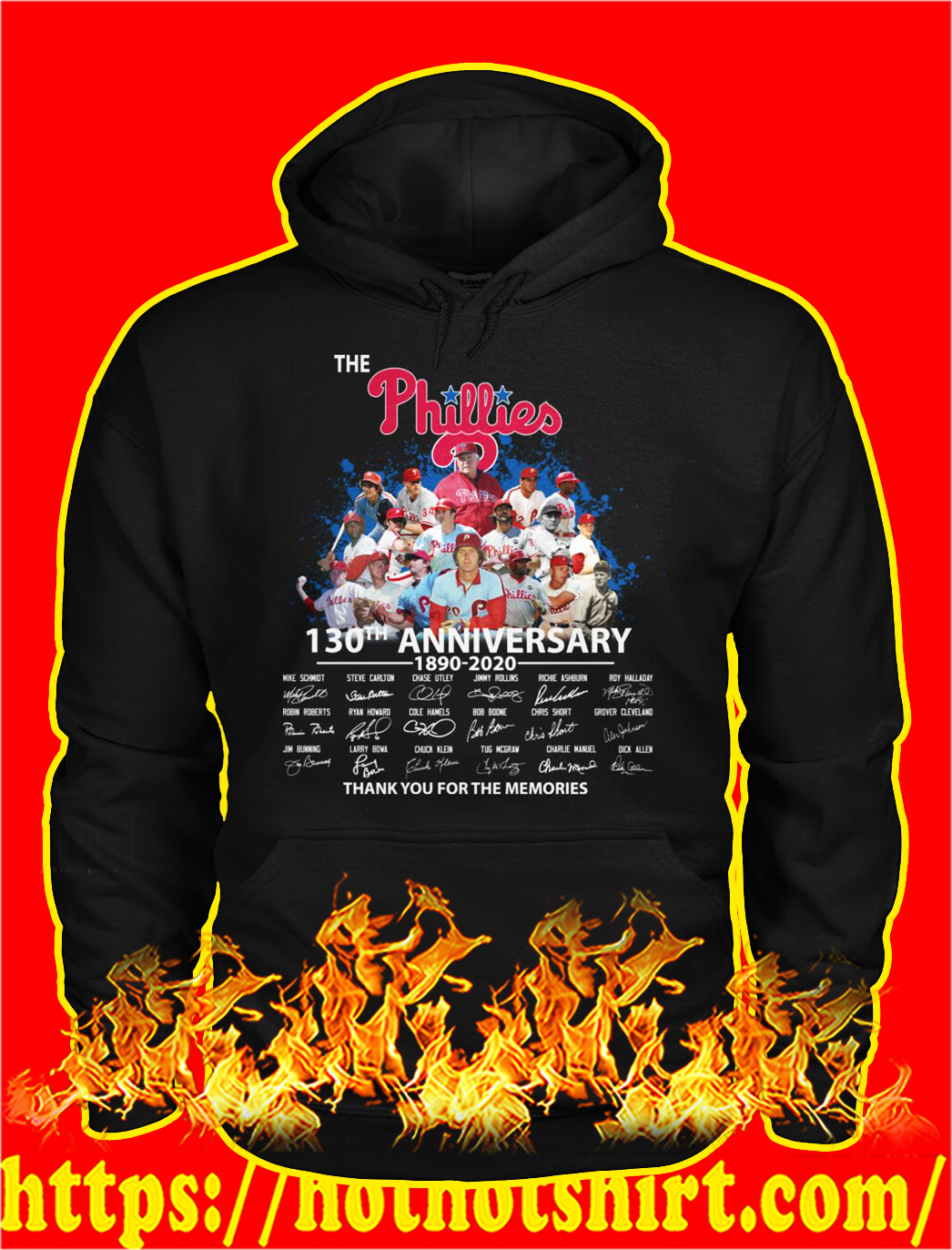 The phillies 130th anniversary thank you for the memories hoodie